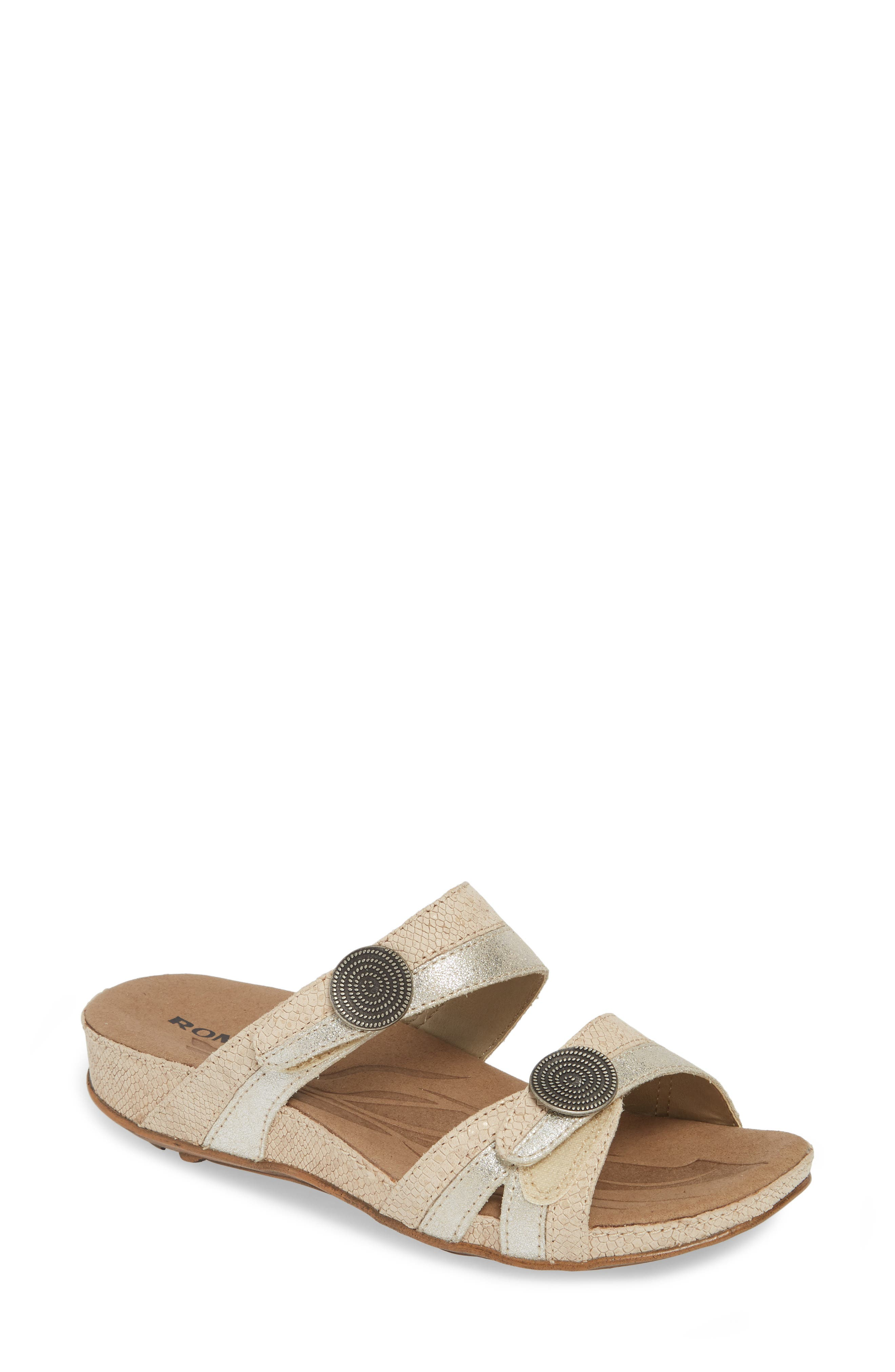 ROMIKA<SUP>®</SUP> 'Fidschi 22' Sandal, Main, color, SILVER LEATHER