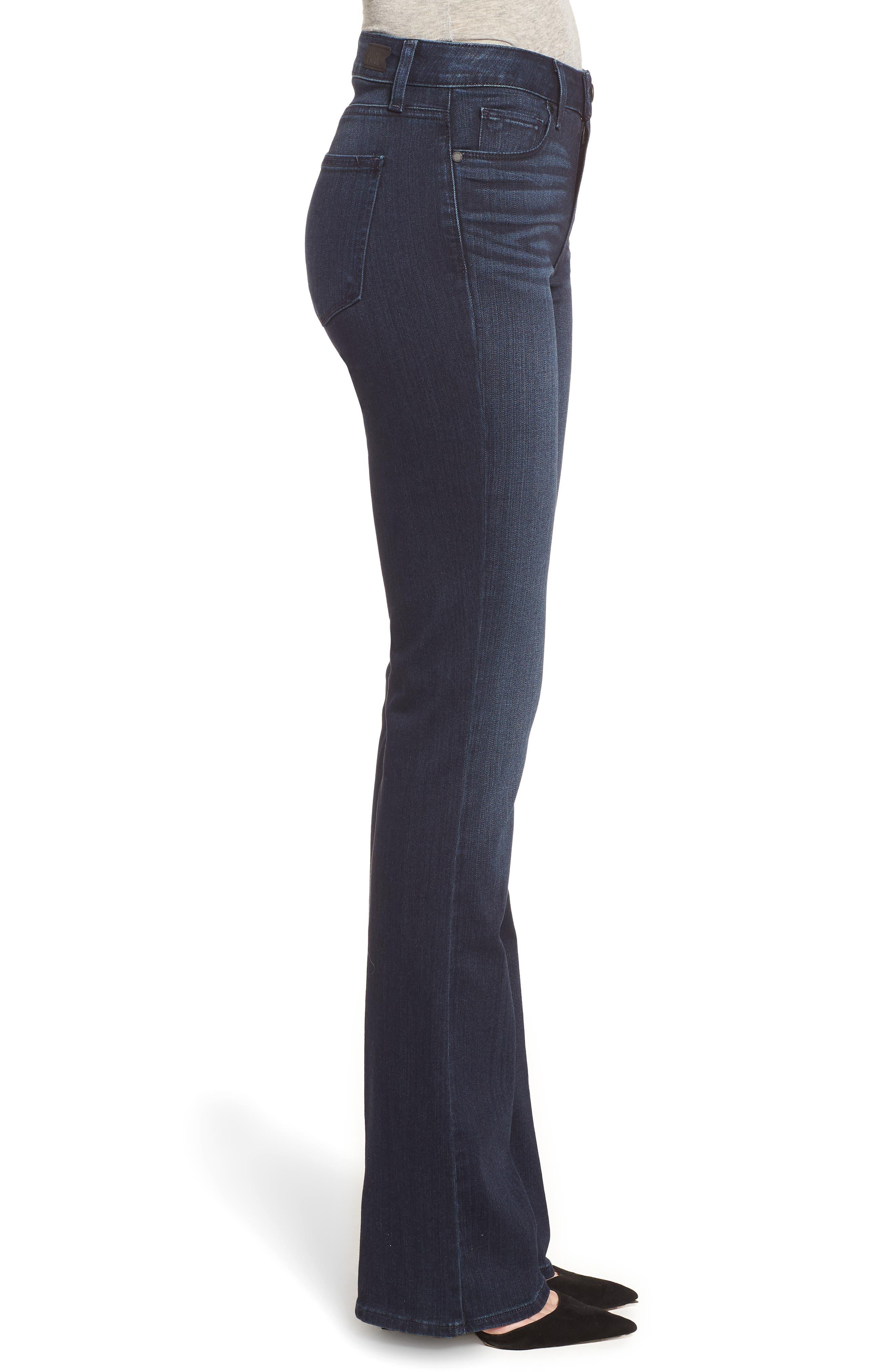PAIGE, Manhattan High Waist Bootcut Jeans, Alternate thumbnail 4, color, ROSEVILLE