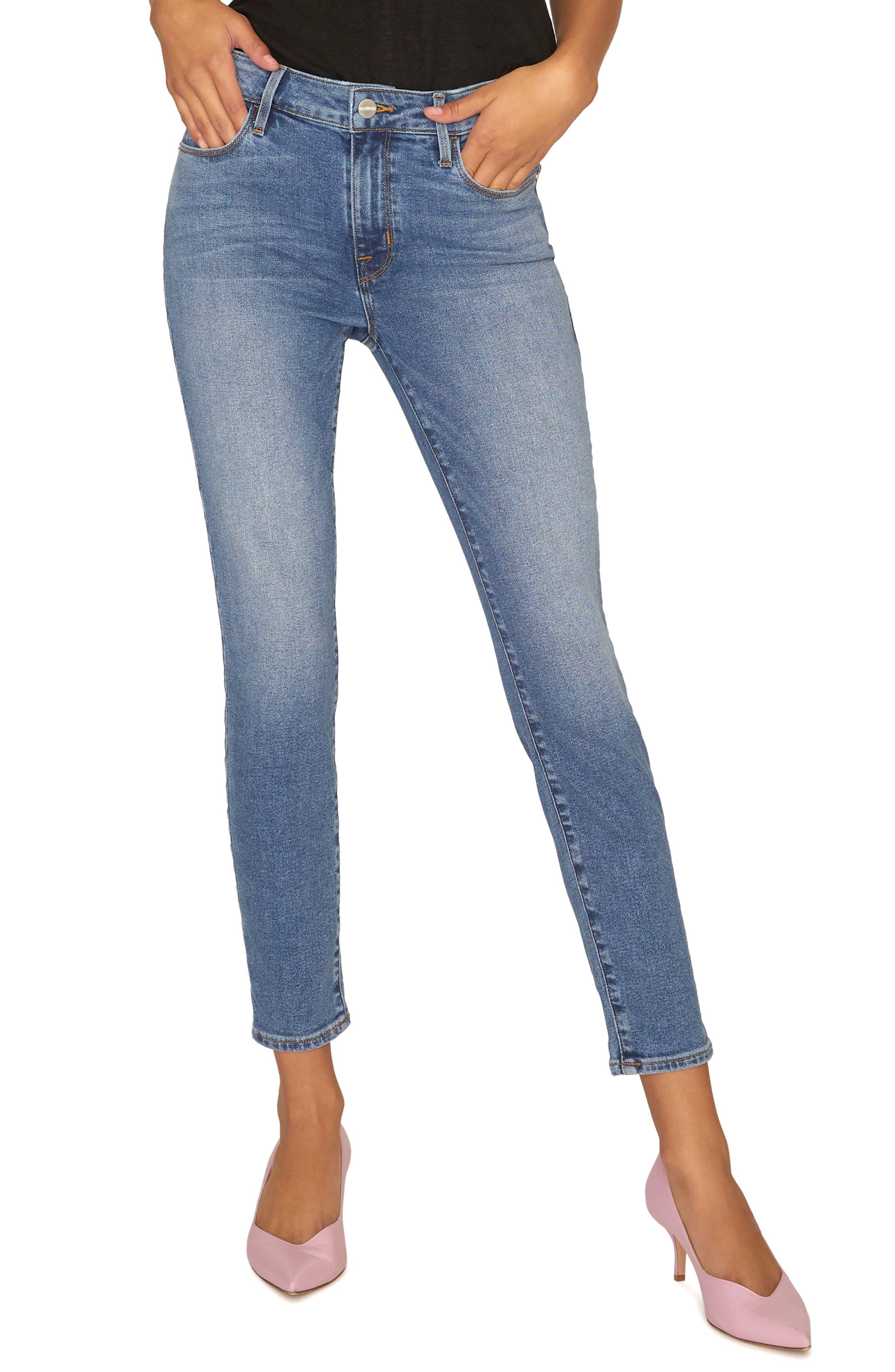 SANCTUARY, Social Standard Ankle Skinny Jeans, Main thumbnail 1, color, 422
