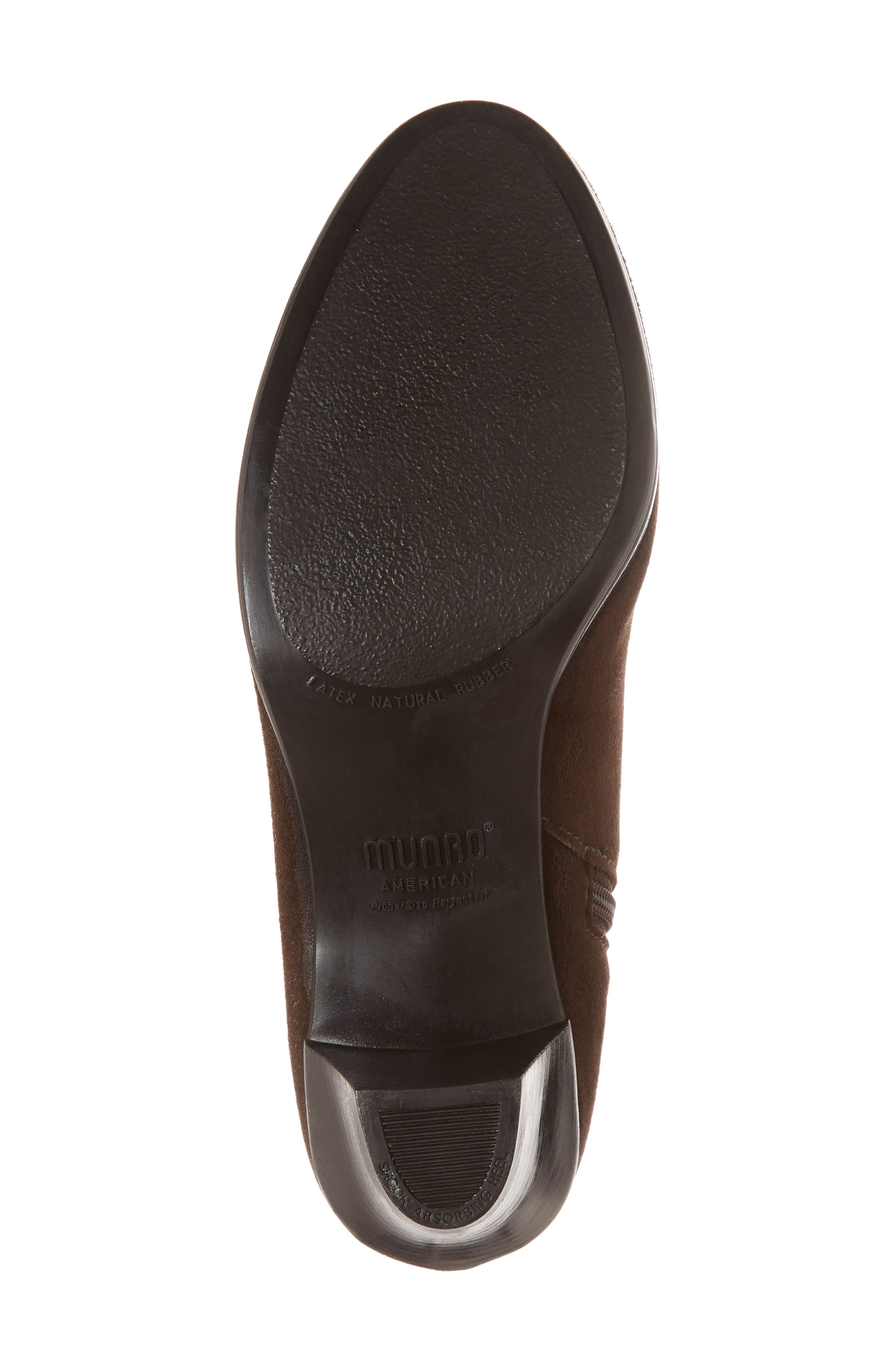 MUNRO, Gracee Boot, Alternate thumbnail 6, color, CHOCOLATE LEATHER