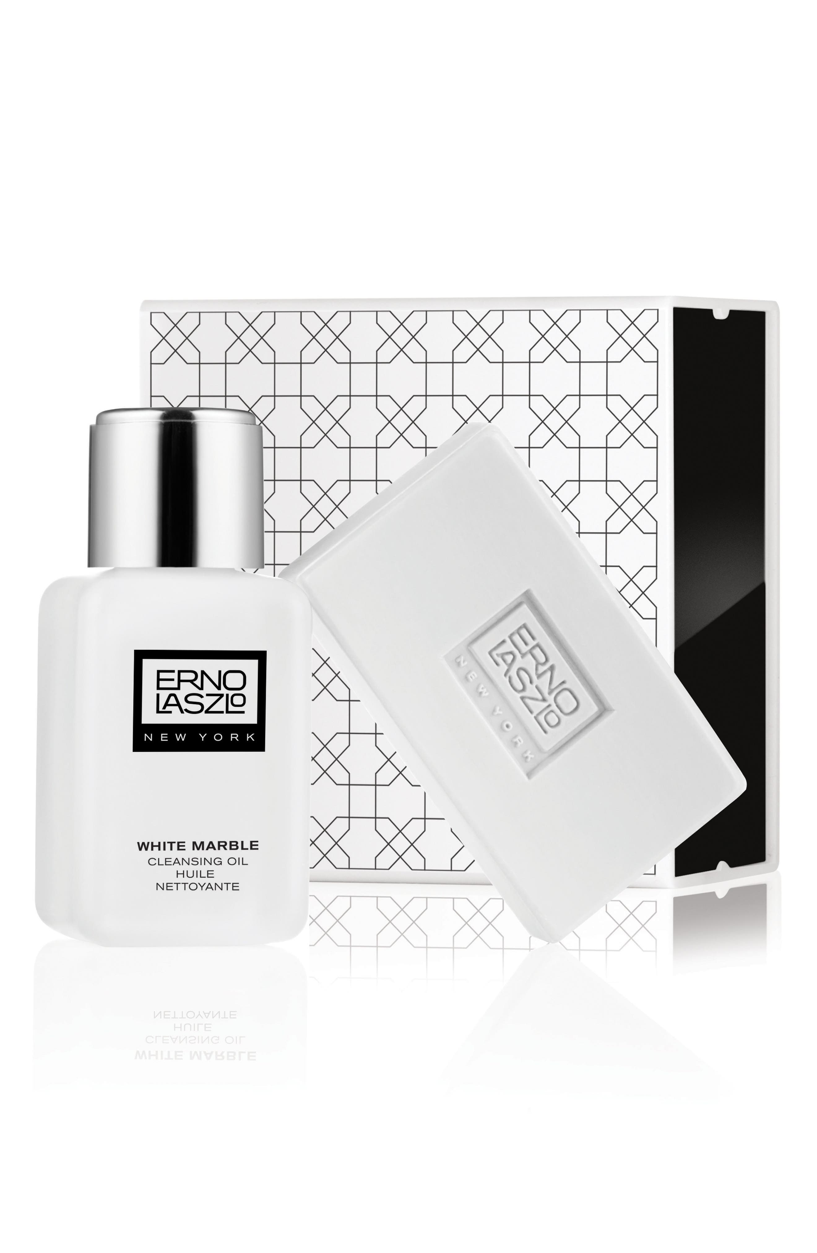 ERNO LASZLO, White Marble Double Cleanse Travel Set, Alternate thumbnail 2, color, NO COLOR