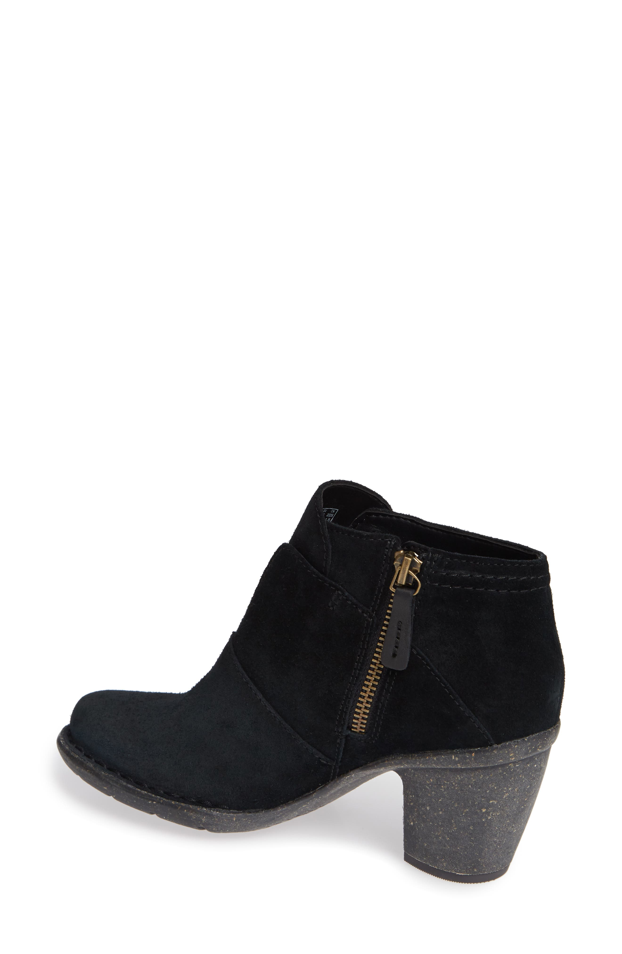 CLARKS<SUP>®</SUP>, Carleta York Bootie, Alternate thumbnail 2, color, BLACK SUEDE