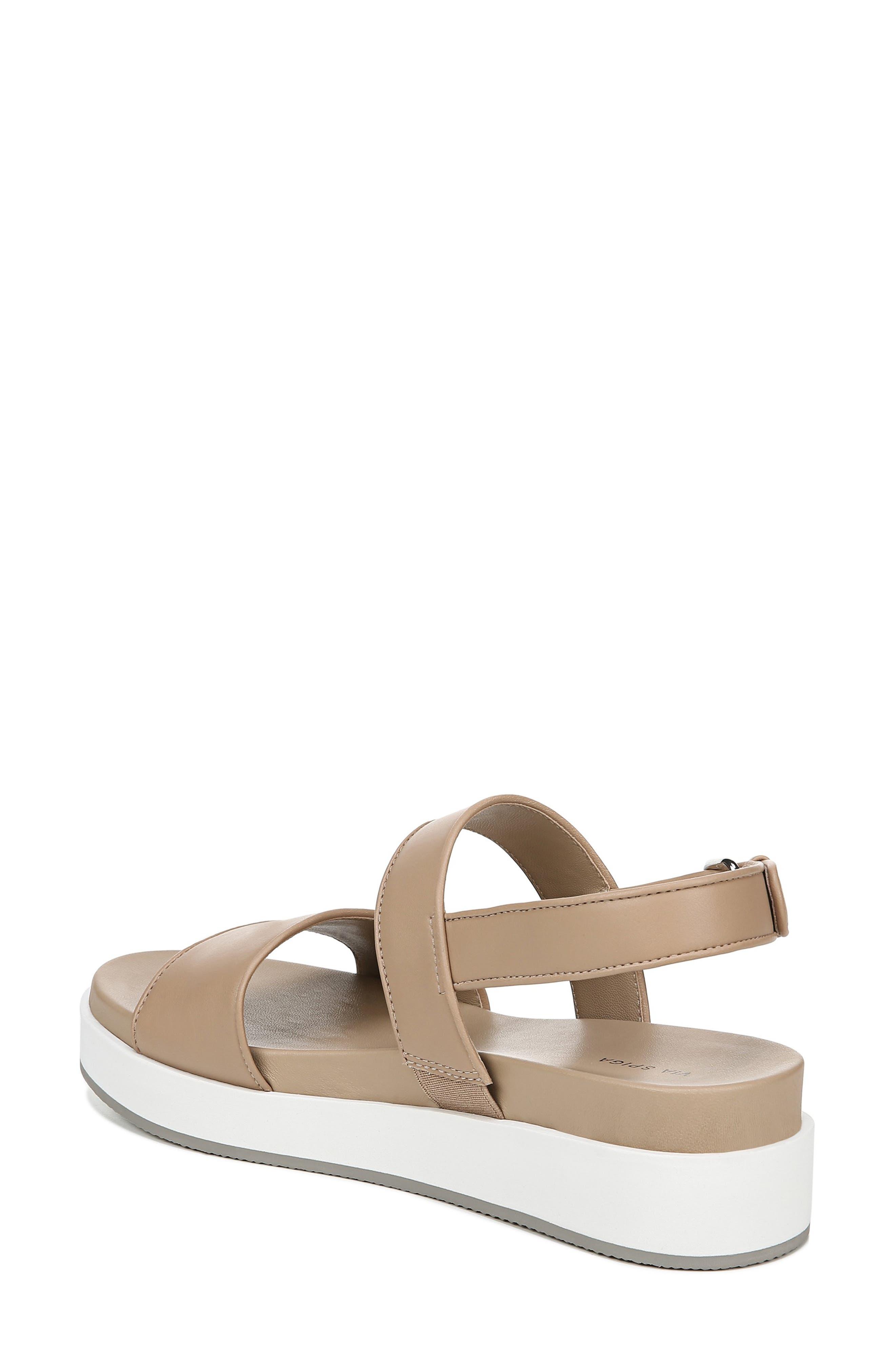 VIA SPIGA, Davi Platform Sandal, Alternate thumbnail 2, color, DESERT NAPPA