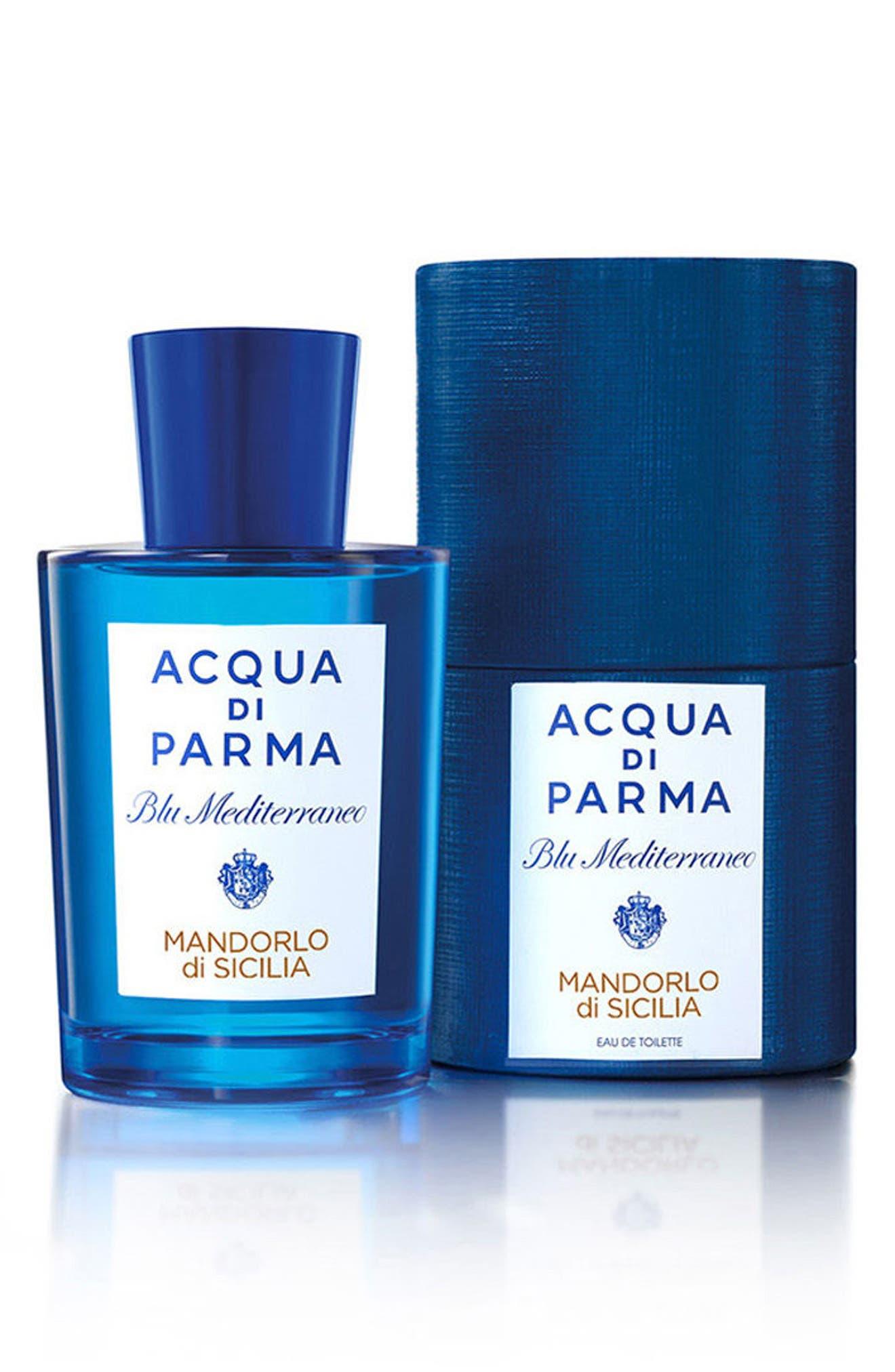 ACQUA DI PARMA, 'Blu Mediterraneo' Mandorlo di Sicilia Eau de Toilette Spray, Alternate thumbnail 5, color, NO COLOR