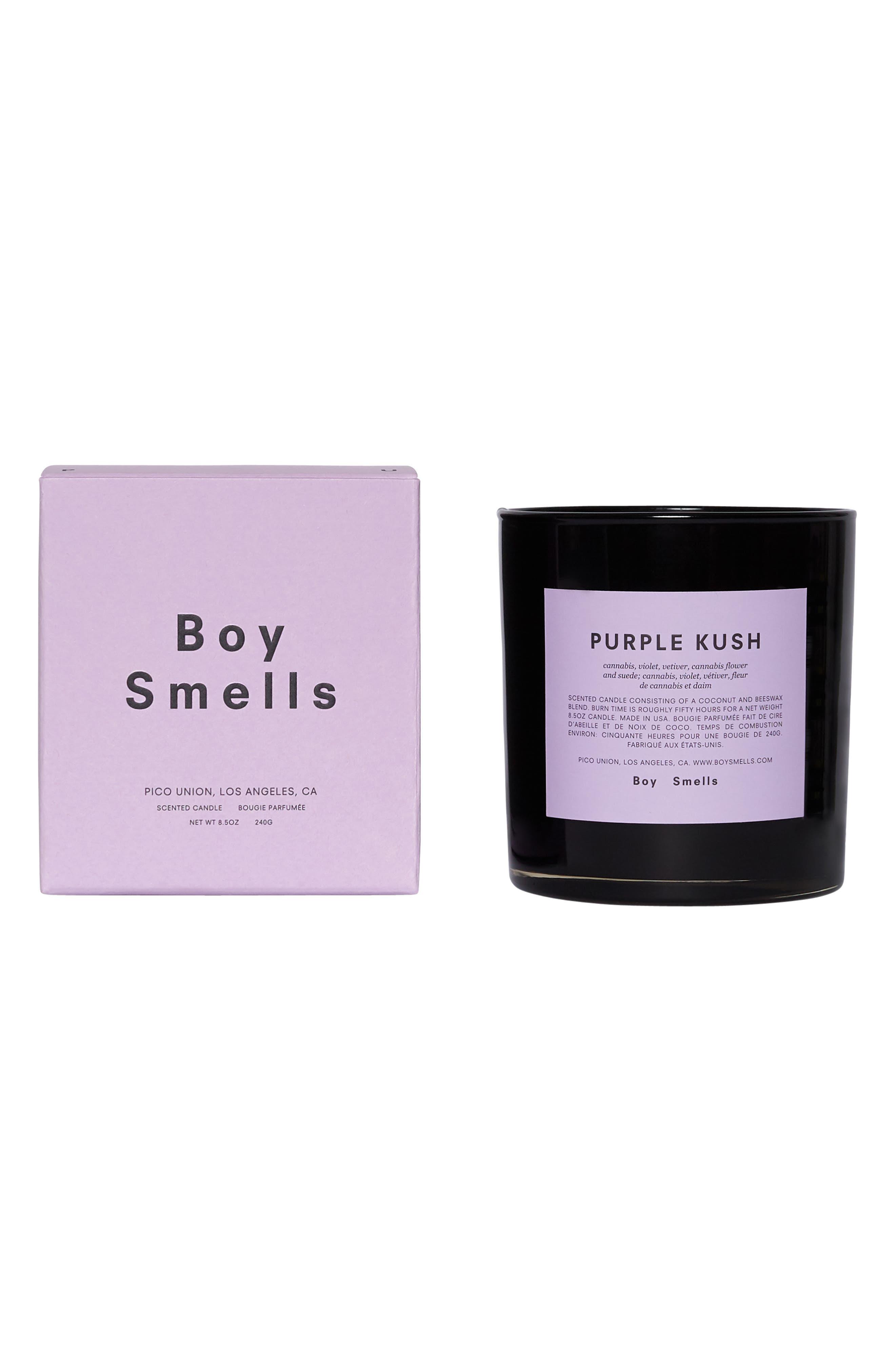 BOY SMELLS, Purple Kush Scented Candle, Alternate thumbnail 4, color, LAVENDER