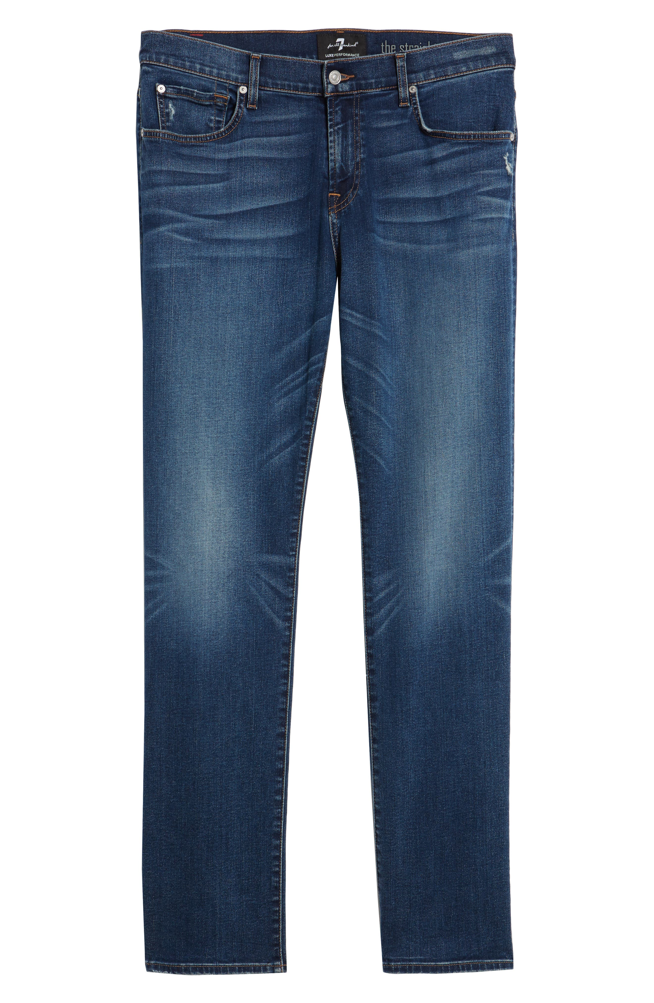 7 FOR ALL MANKIND<SUP>®</SUP>, The Straight - Luxe Performance Slim Straight Leg Jeans, Alternate thumbnail 6, color, LUXE PERFORMANCE UNION