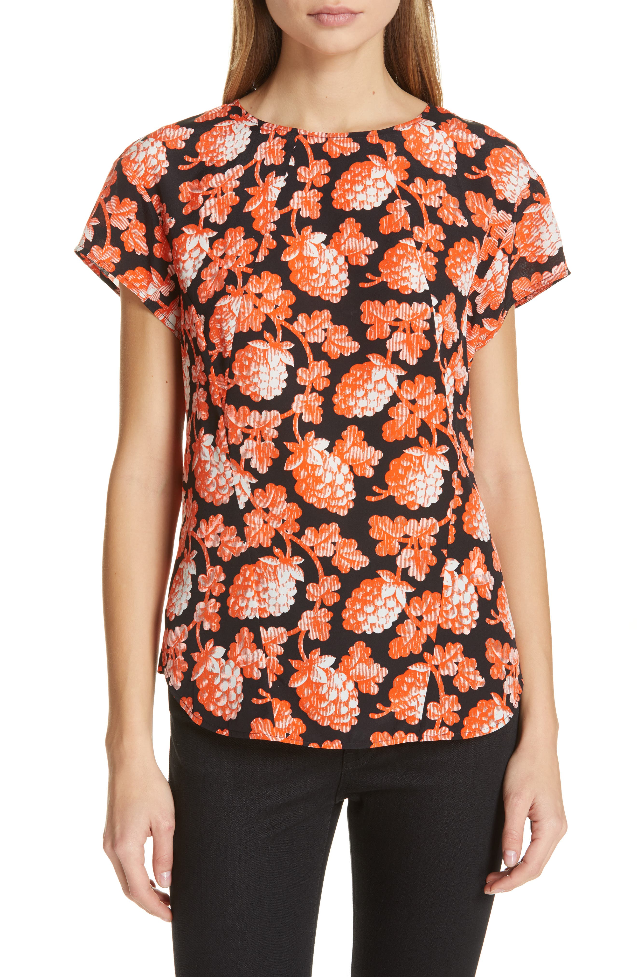 DVF, Nellie Top, Main thumbnail 1, color, BERRIES BLACK