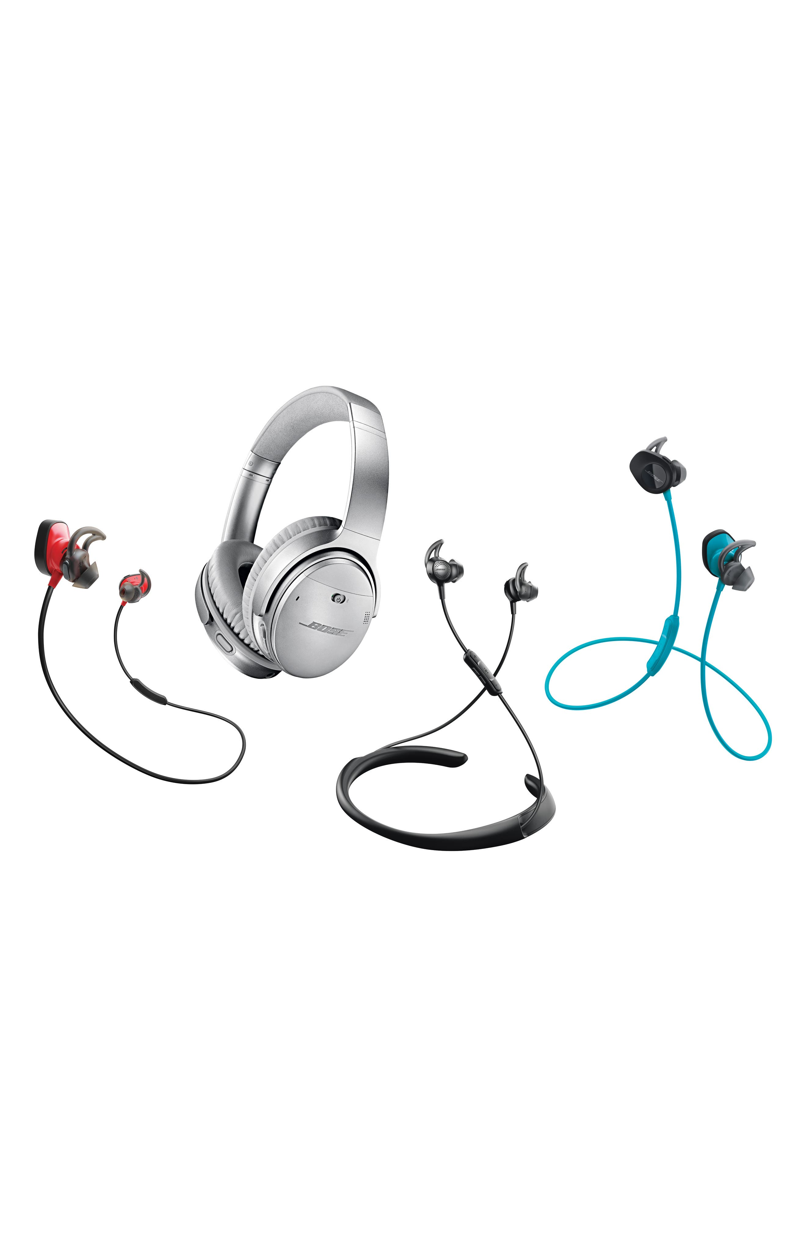 BOSE<SUP>®</SUP>, QuietComfort<sup>®</sup> 35 Wireless Headphones II with Google Assistant, Alternate thumbnail 5, color, BLACK