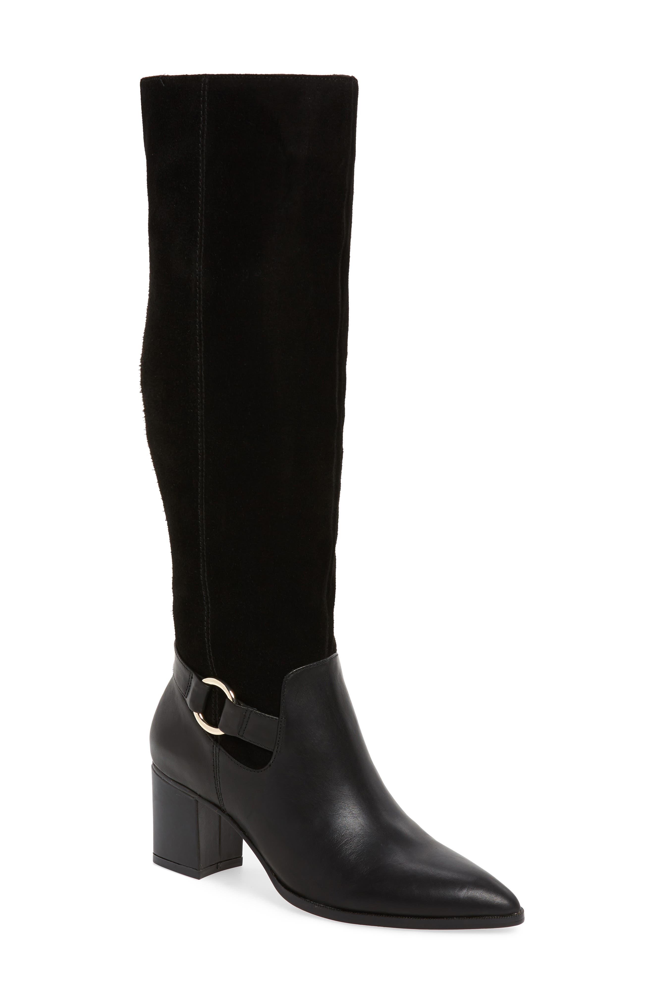 Sole Society Daleena Knee High Boot, Black