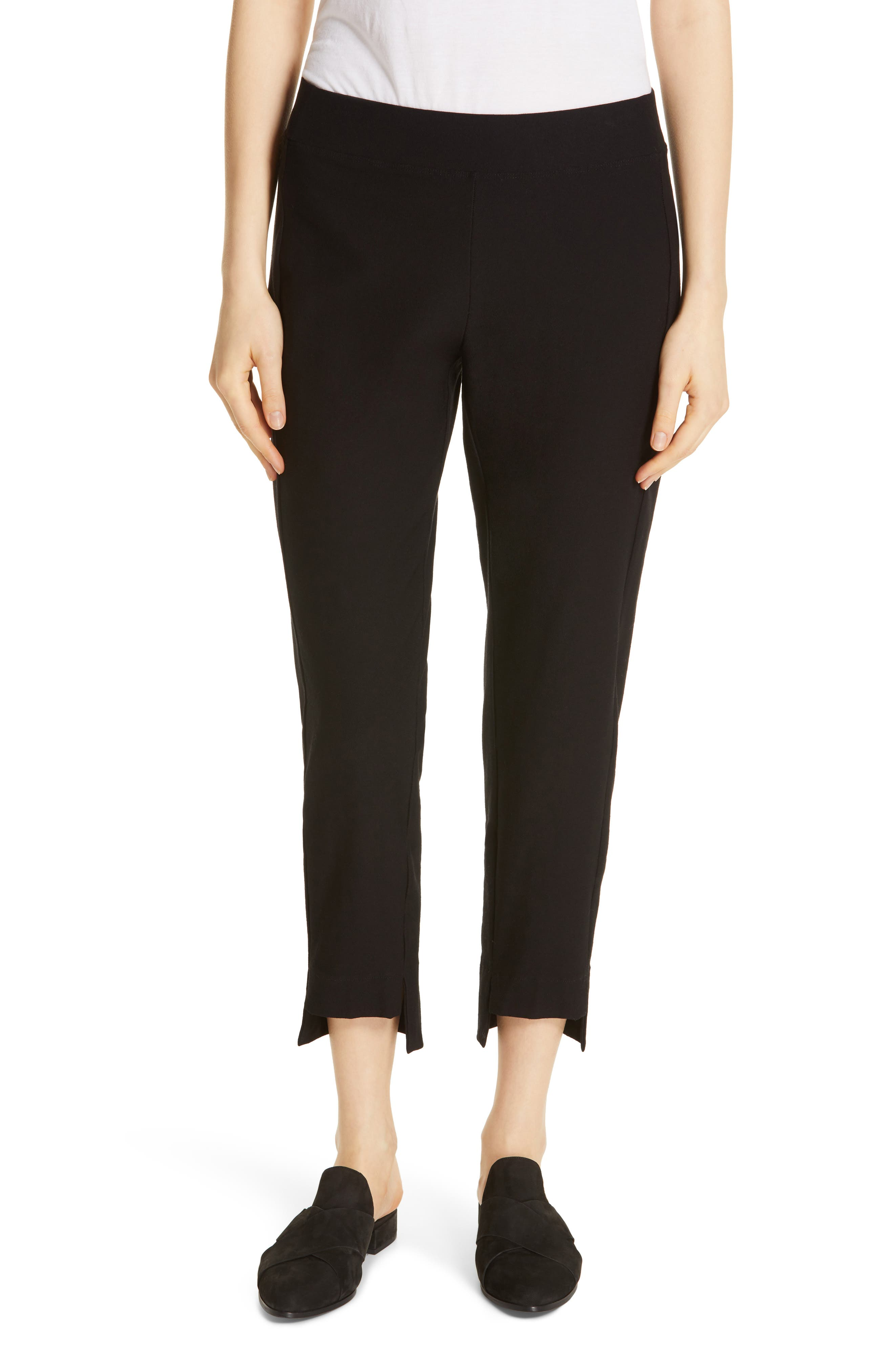 EILEEN FISHER Slim Ankle Pants, Main, color, 001
