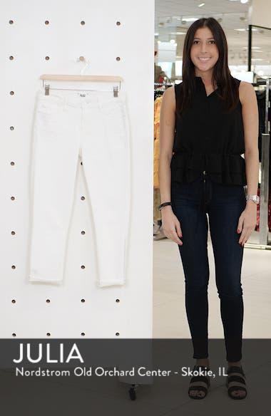 Skyline Raw Hem Crop Skinny Jeans, sales video thumbnail