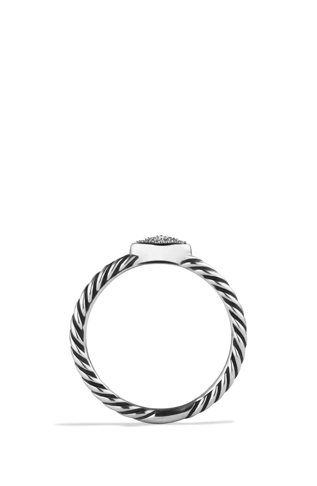 DAVID YURMAN, 'Cable Collectibles - Quatrefoil' Ring with Diamonds, Alternate thumbnail 4, color, DIAMOND