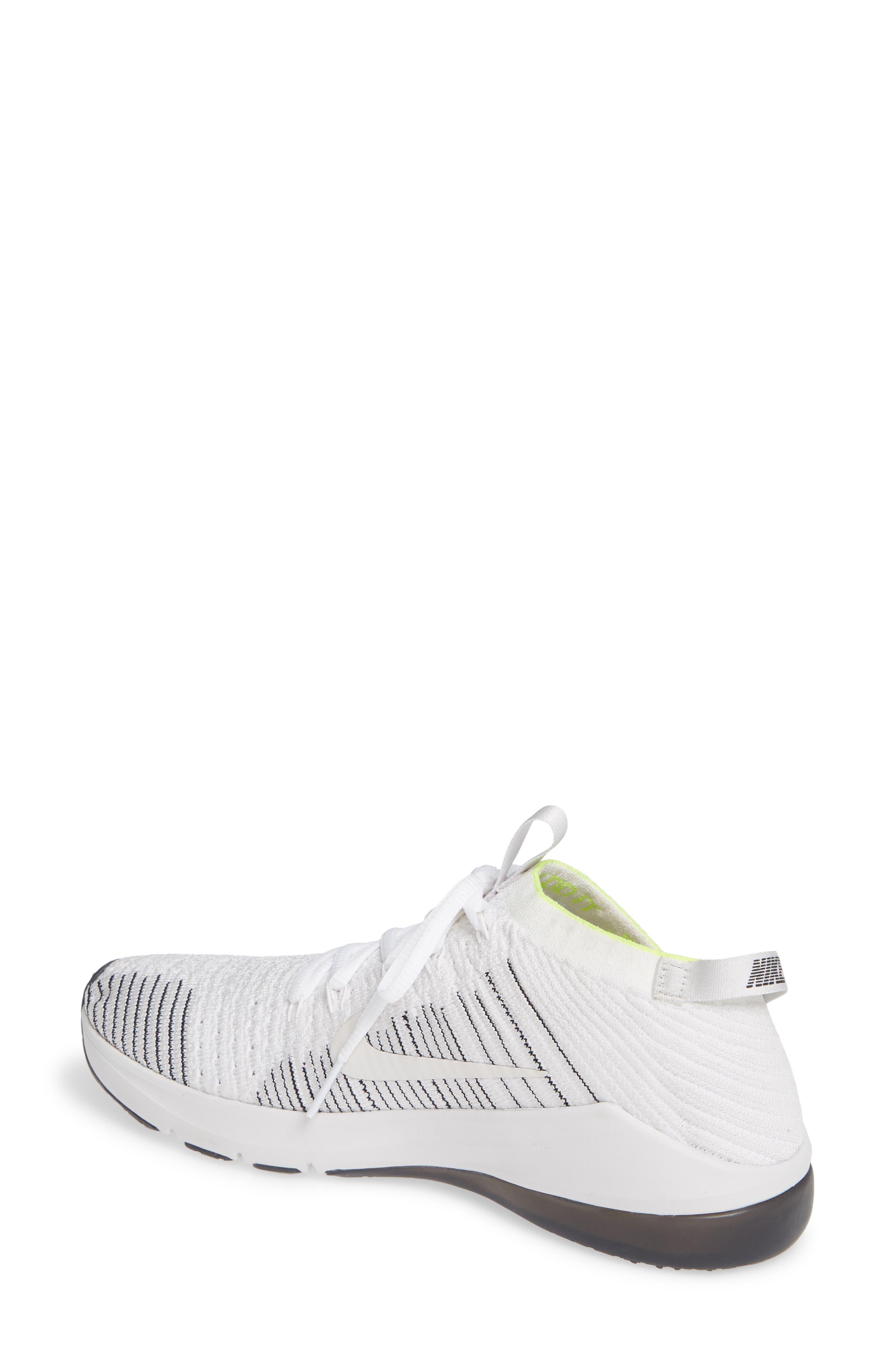 NIKE, Air Zoom Fearless Flyknit 2 Training Sneaker, Alternate thumbnail 2, color, WHITE/ PLATINUM TINT/ BLACK
