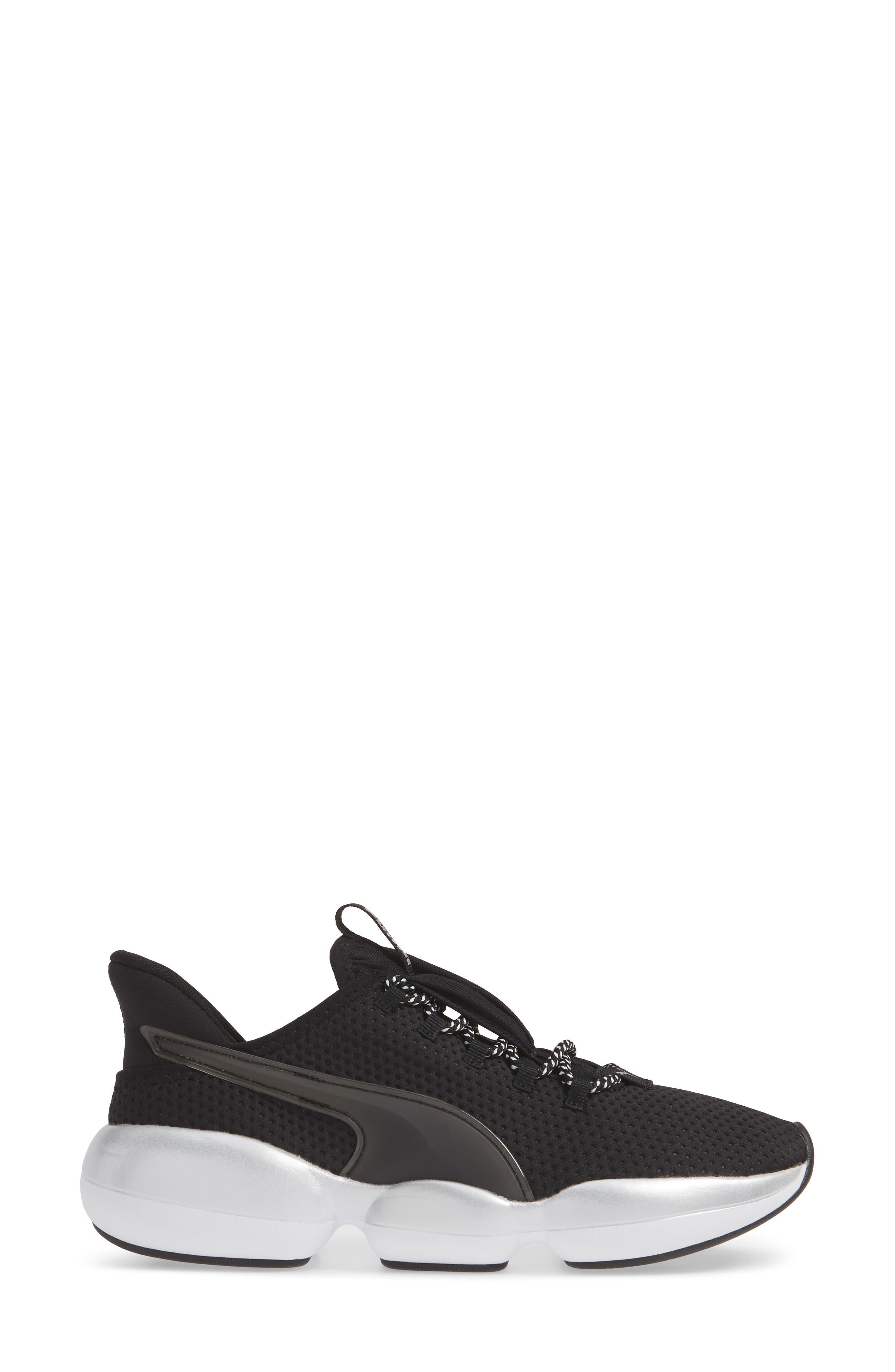 PUMA, Mode XT Hybrid Training Shoe, Alternate thumbnail 3, color, BLACK