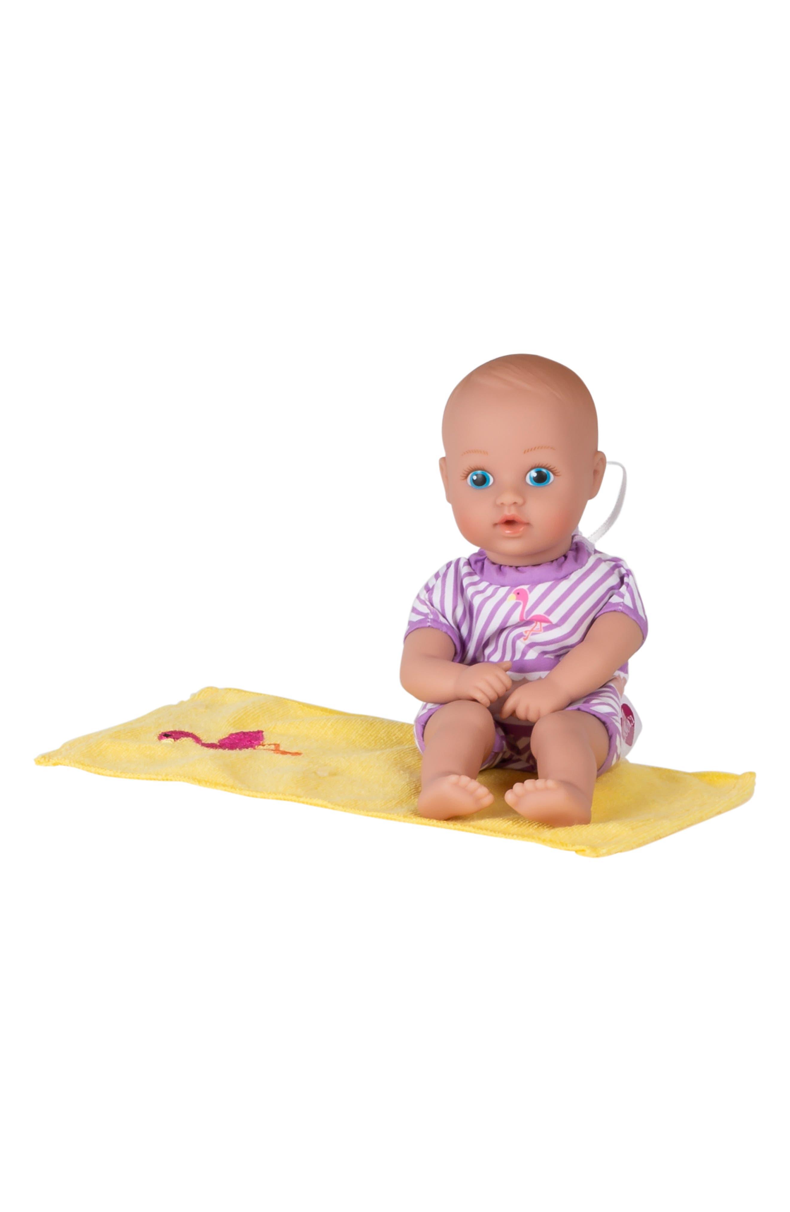 ADORA, Flamingo Splashtime Baby Doll, Alternate thumbnail 8, color, PINK