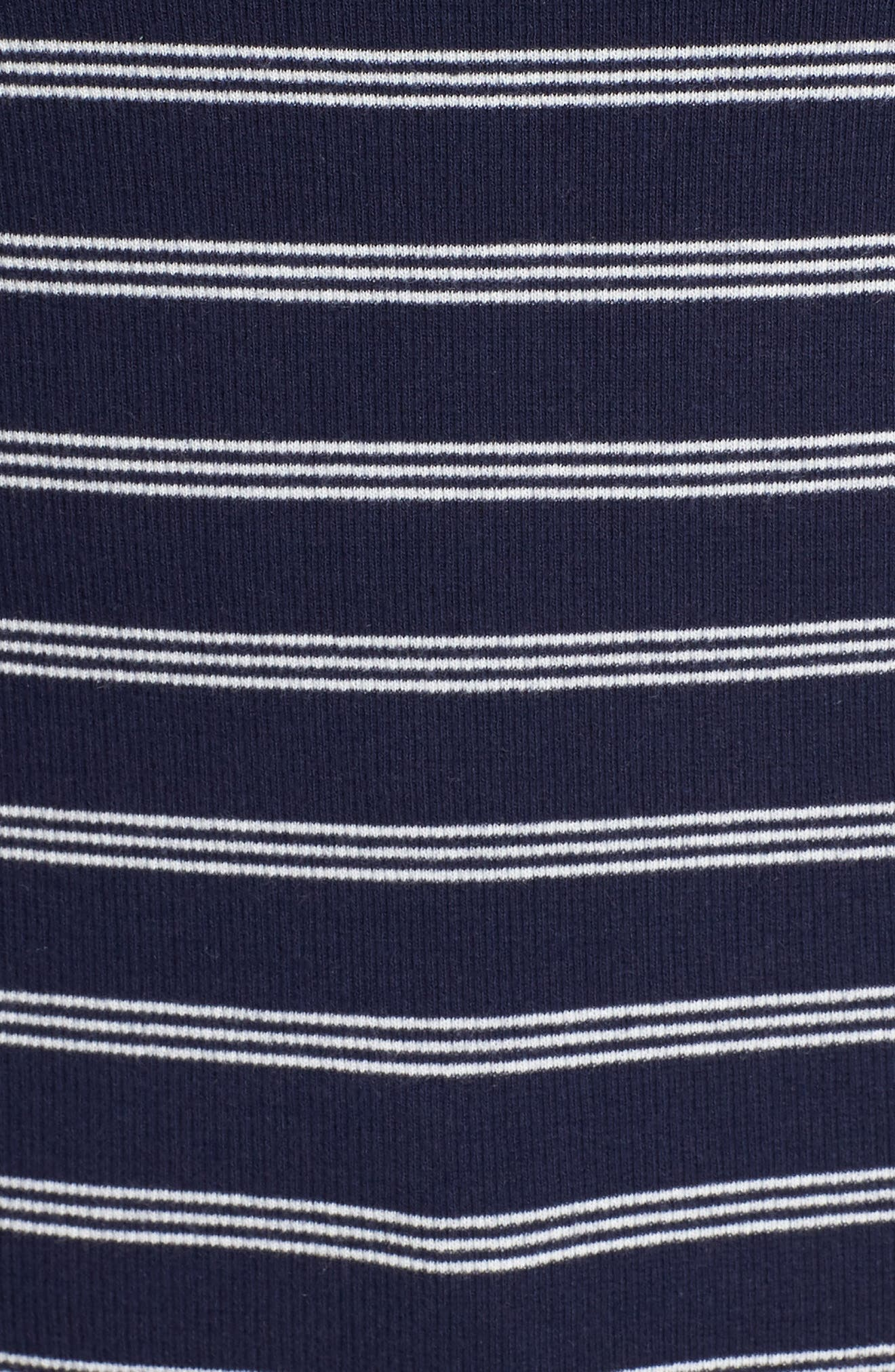 BP., Ribbed Henley Tee, Alternate thumbnail 11, color, NAVY EVENING NANTUCKET STRIPE
