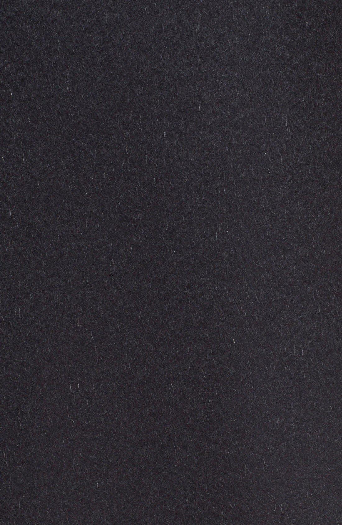 MAX MARA, 'Manuela' Camel Hair Coat, Alternate thumbnail 6, color, BLACK