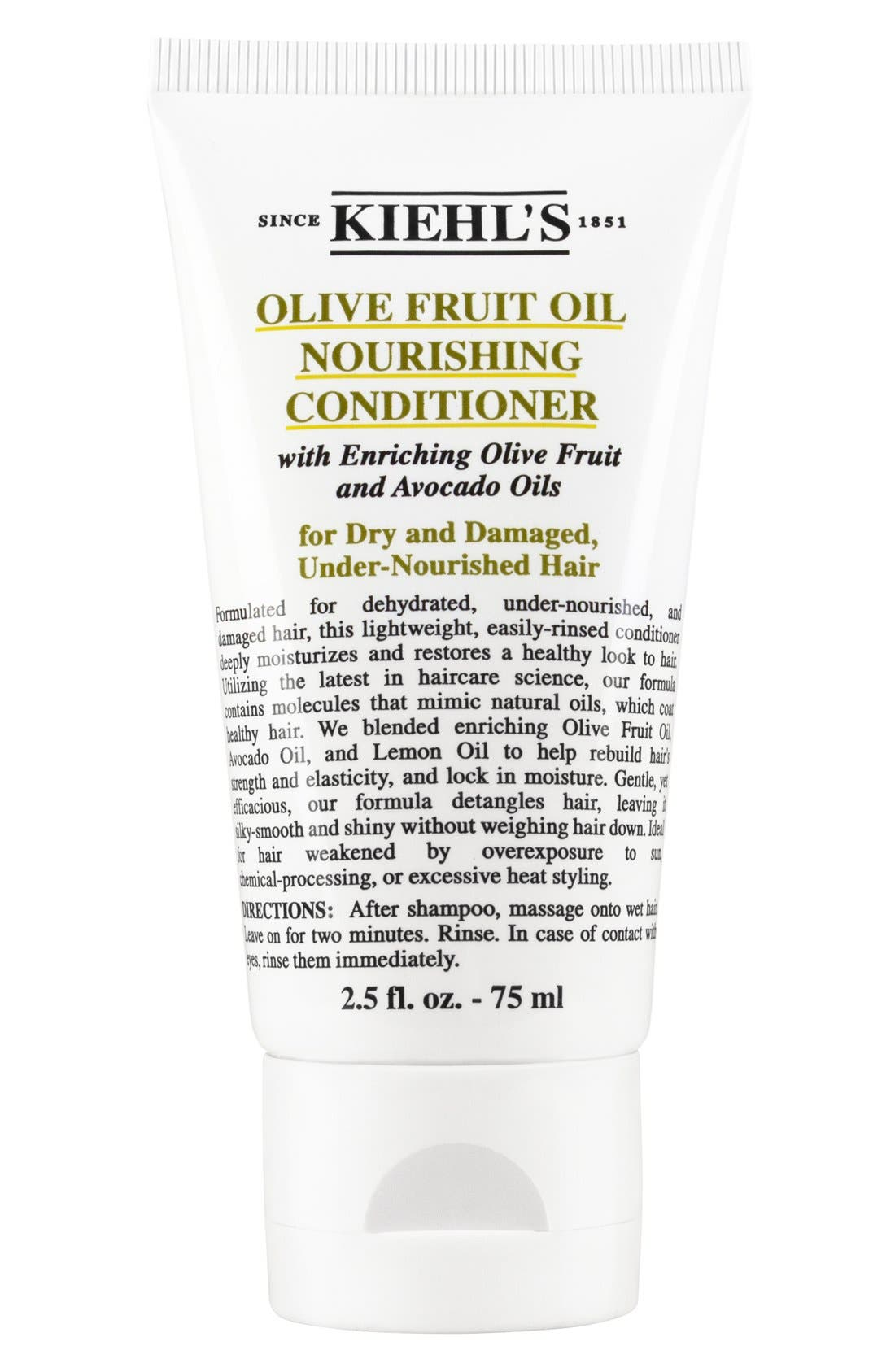 KIEHL'S SINCE 1851, Olive Fruit Oil Nourishing Conditioner, Alternate thumbnail 4, color, NO COLOR