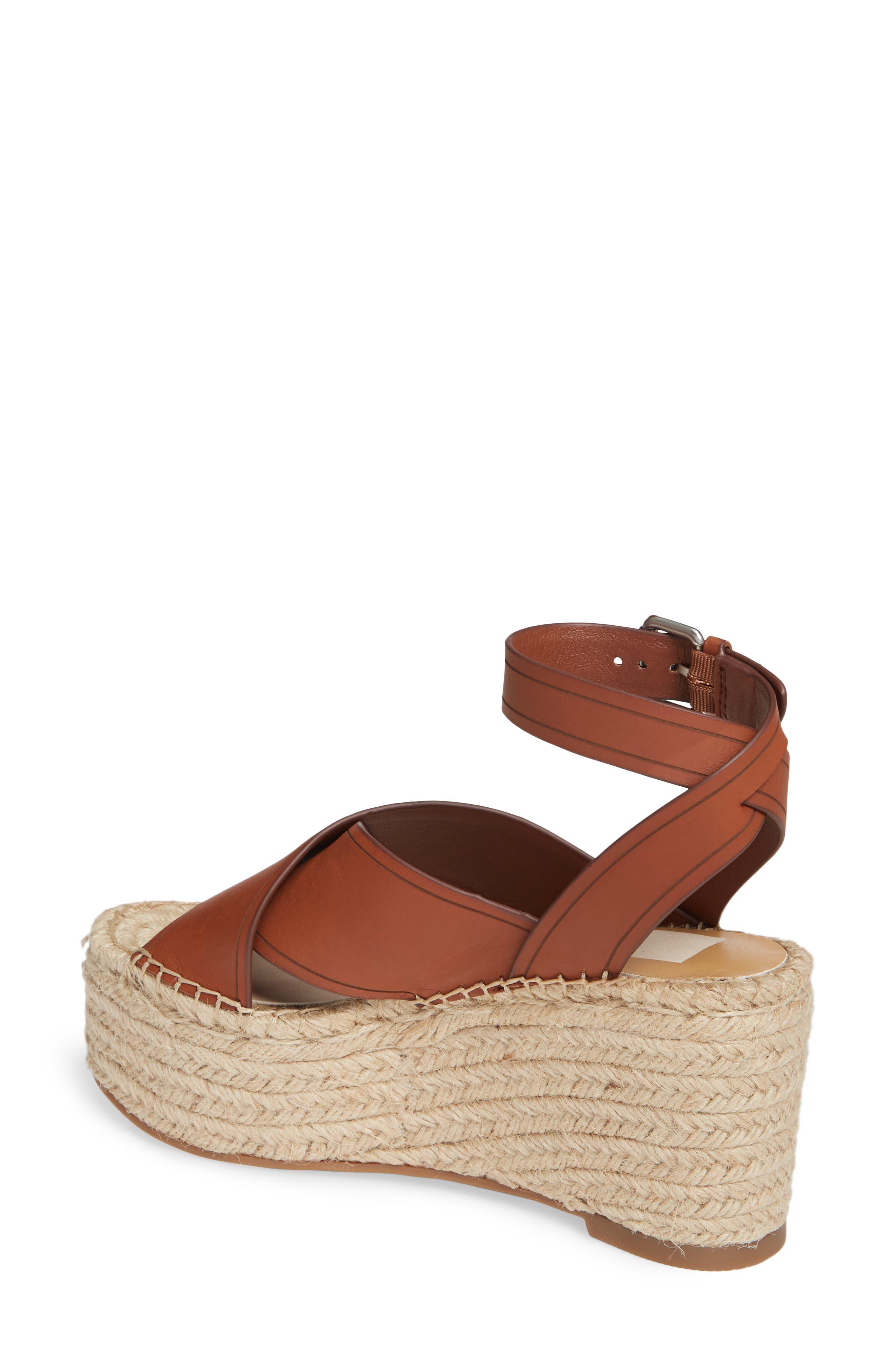 DOLCE VITA, Carsie Platform Sandal, Alternate thumbnail 2, color, BROWN LEATHER