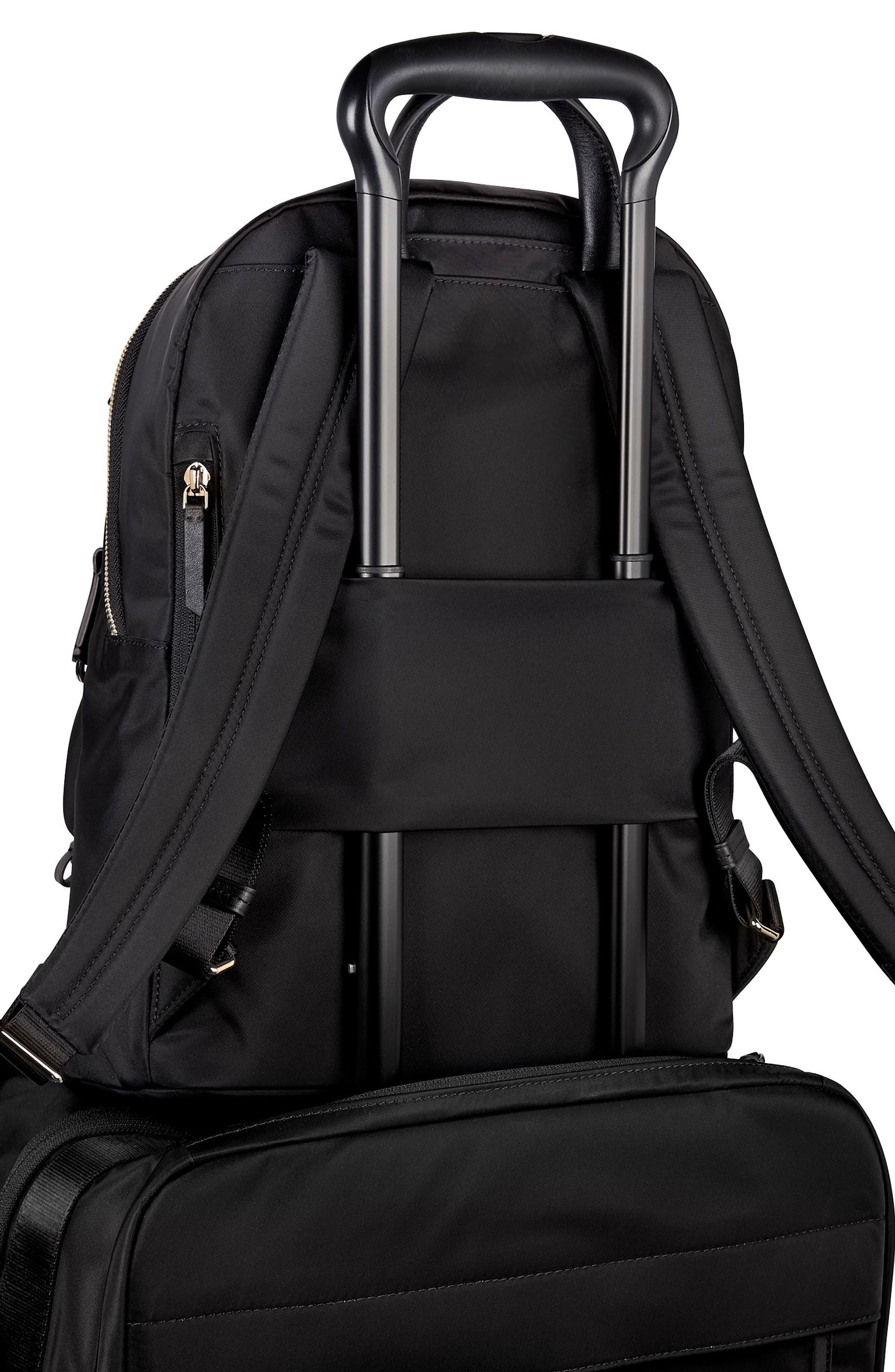 TUMI, Voyageur Hagen Nylon Backpack, Alternate thumbnail 7, color, BLACK