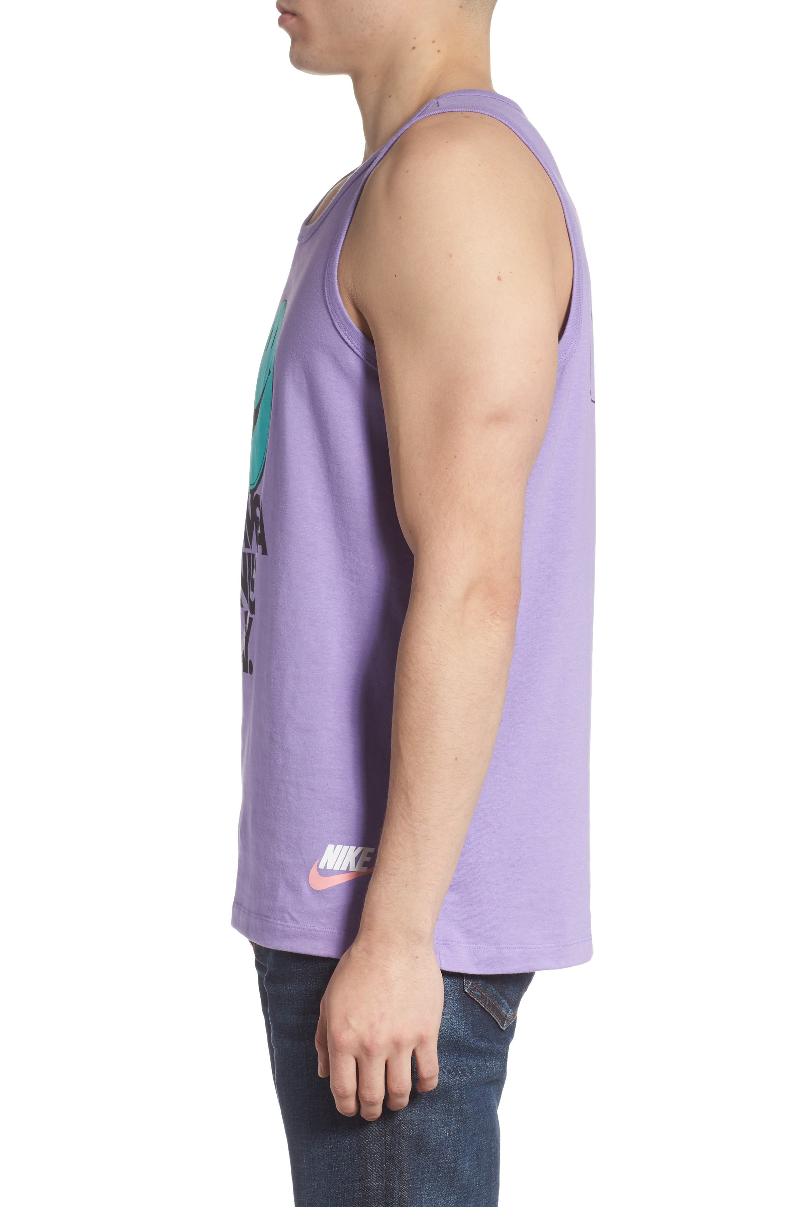 NIKE, Classic Have a Nike Day Tank, Alternate thumbnail 3, color, SPACE PURPLE