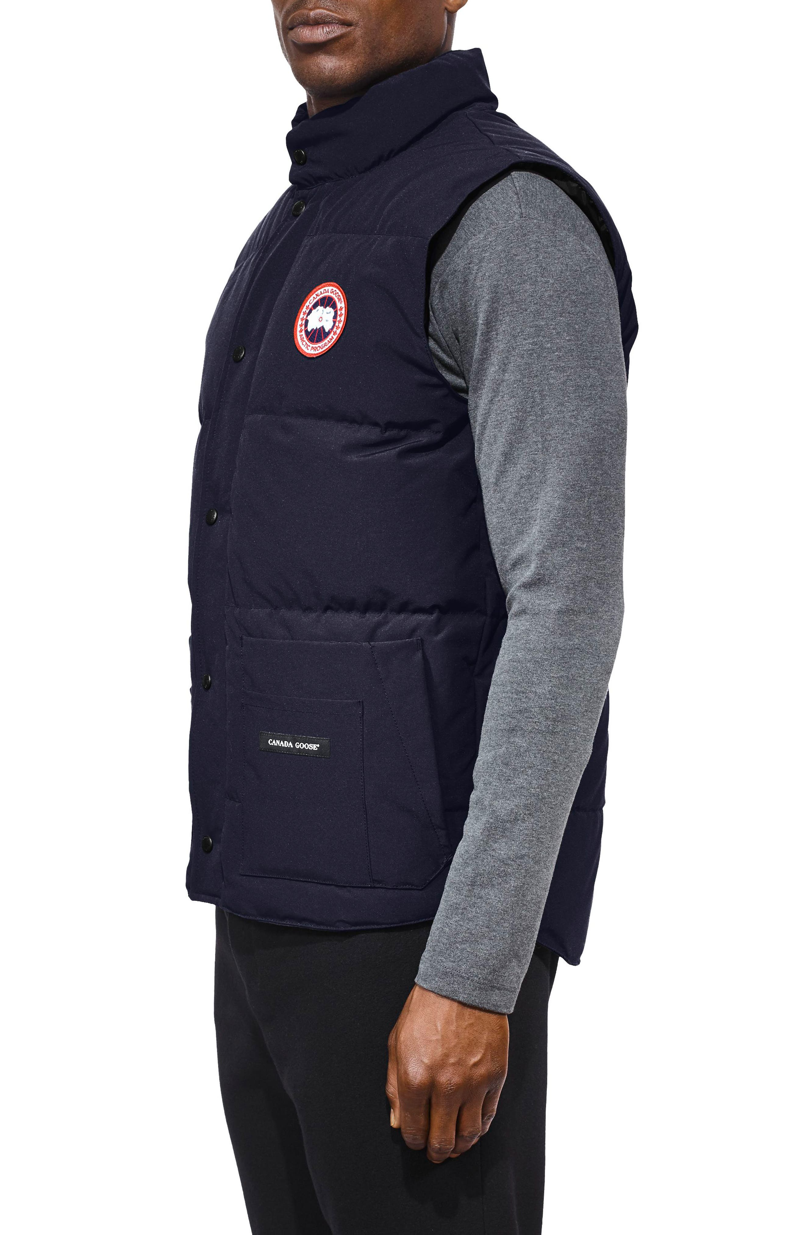 CANADA GOOSE, Freestyle Regular Fit Down Vest, Alternate thumbnail 4, color, ADMIRAL BLUE