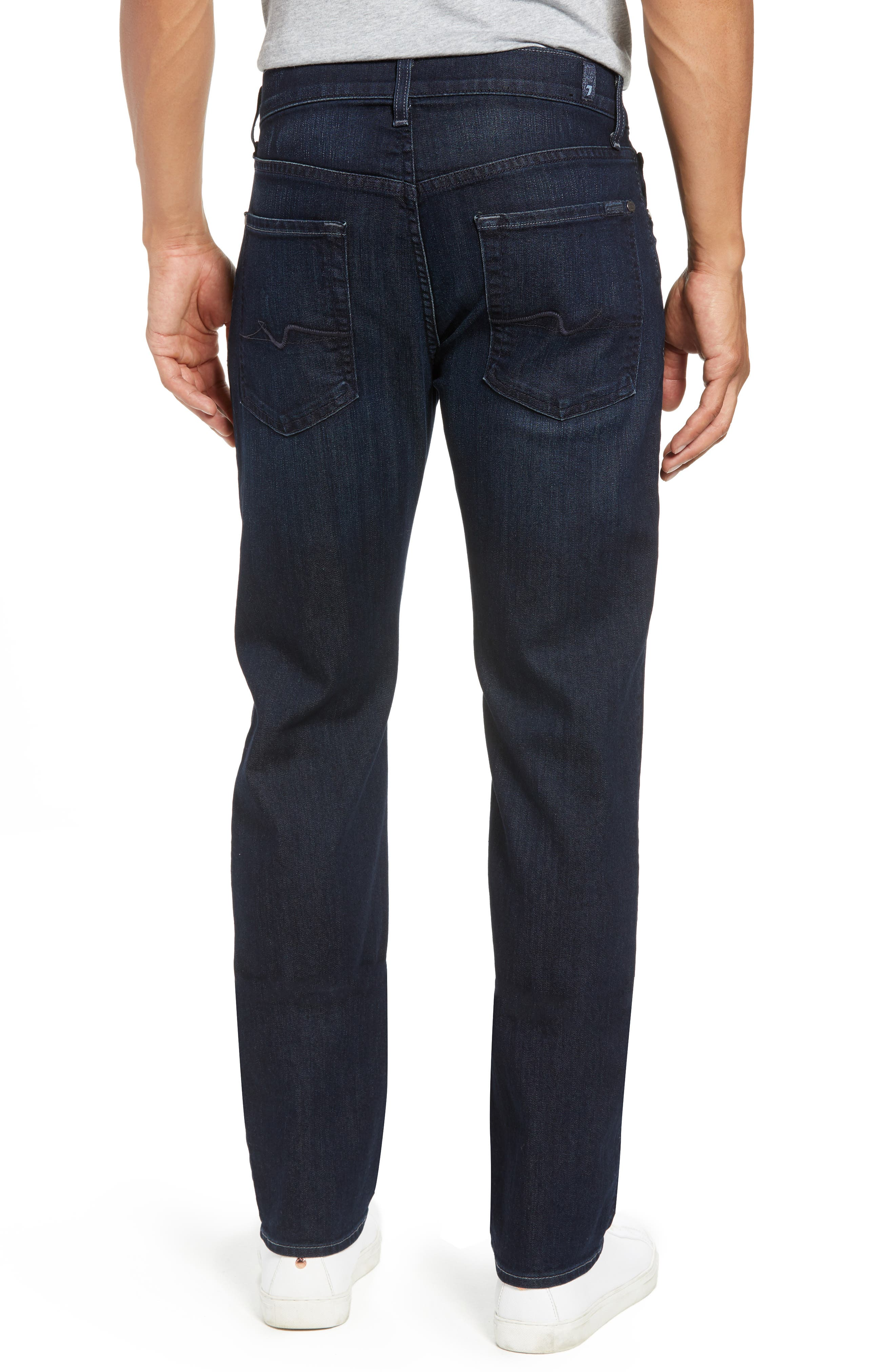 7 FOR ALL MANKIND<SUP>®</SUP>, Airweft Standard Straight Leg Jeans, Alternate thumbnail 2, color, 401