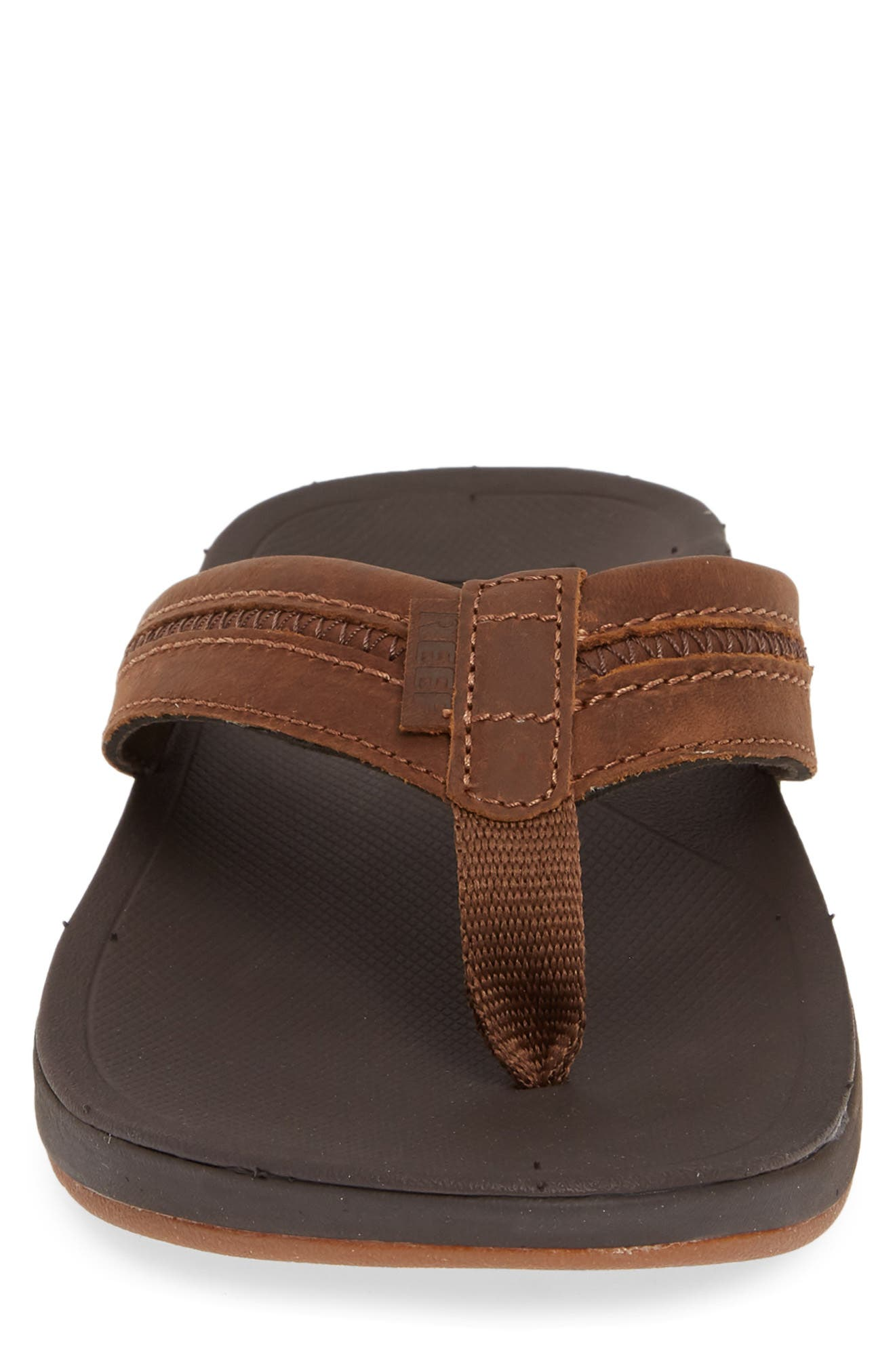 REEF, Ortho Bounce Coast Flip Flop, Alternate thumbnail 4, color, BROWN