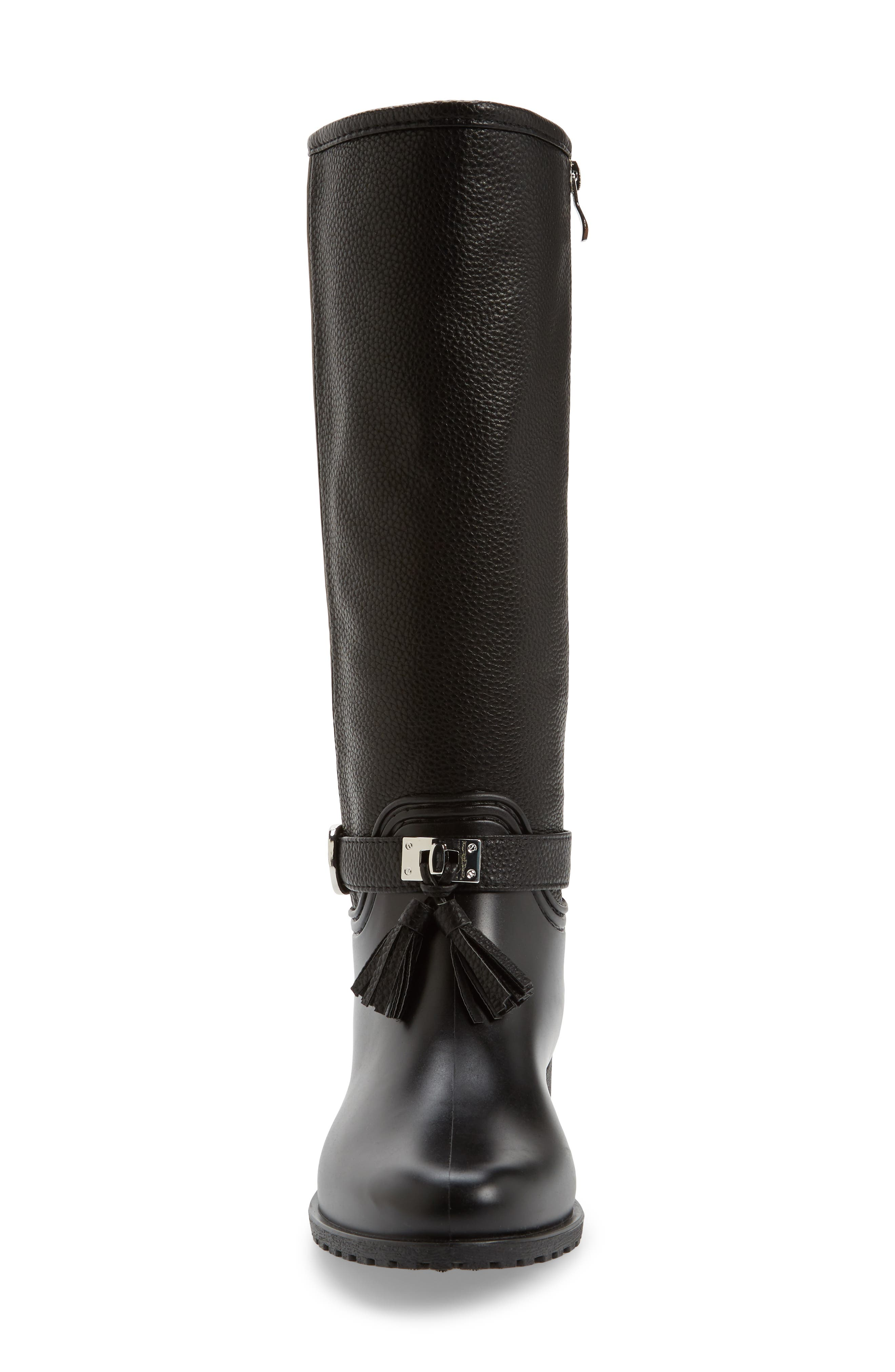 DÄV, Inverness Faux Shearling Lined Water Resistant Boot, Alternate thumbnail 4, color, BLACK