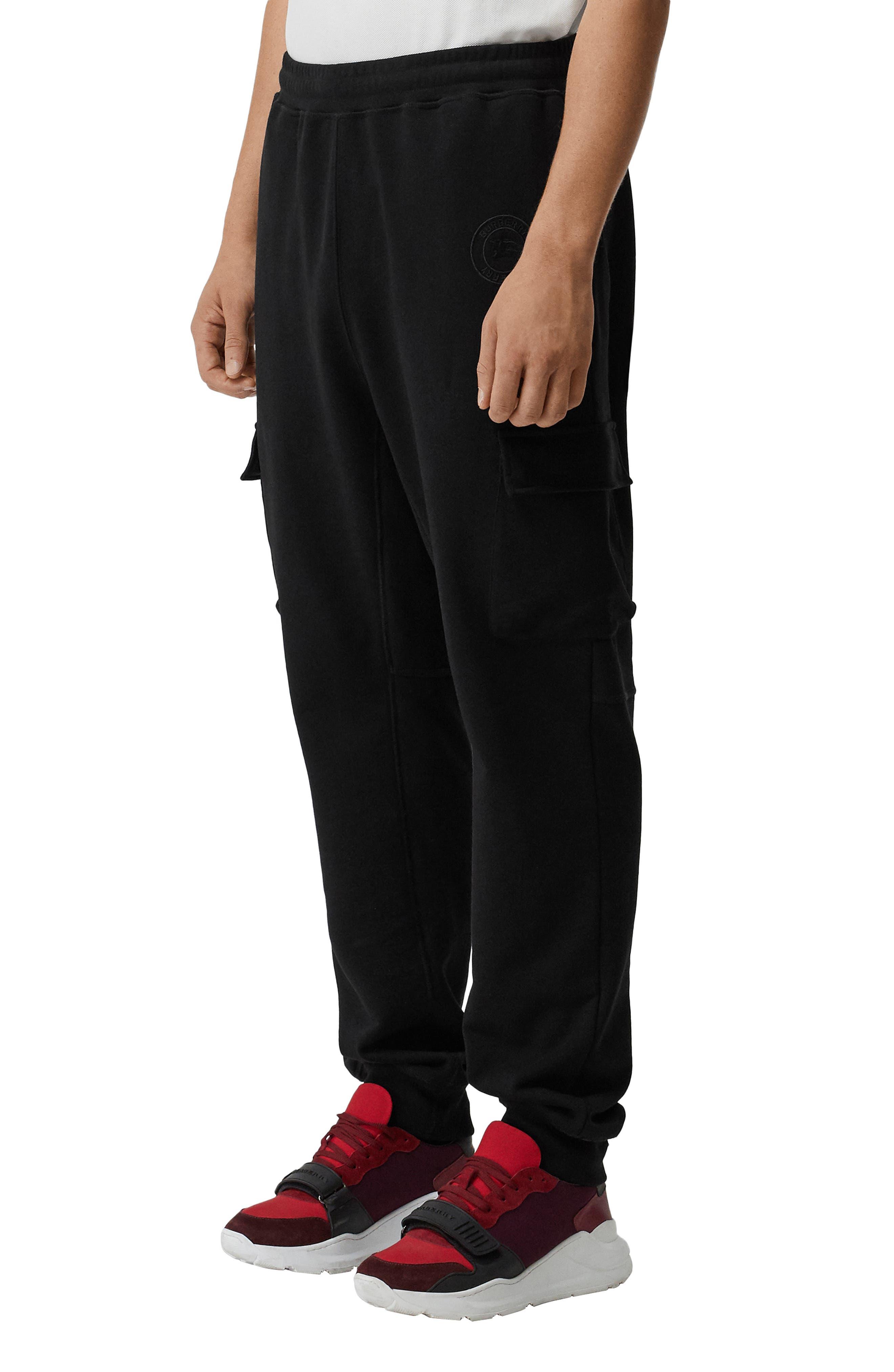 Burberry Justley Cargo Jogger Pants, Black
