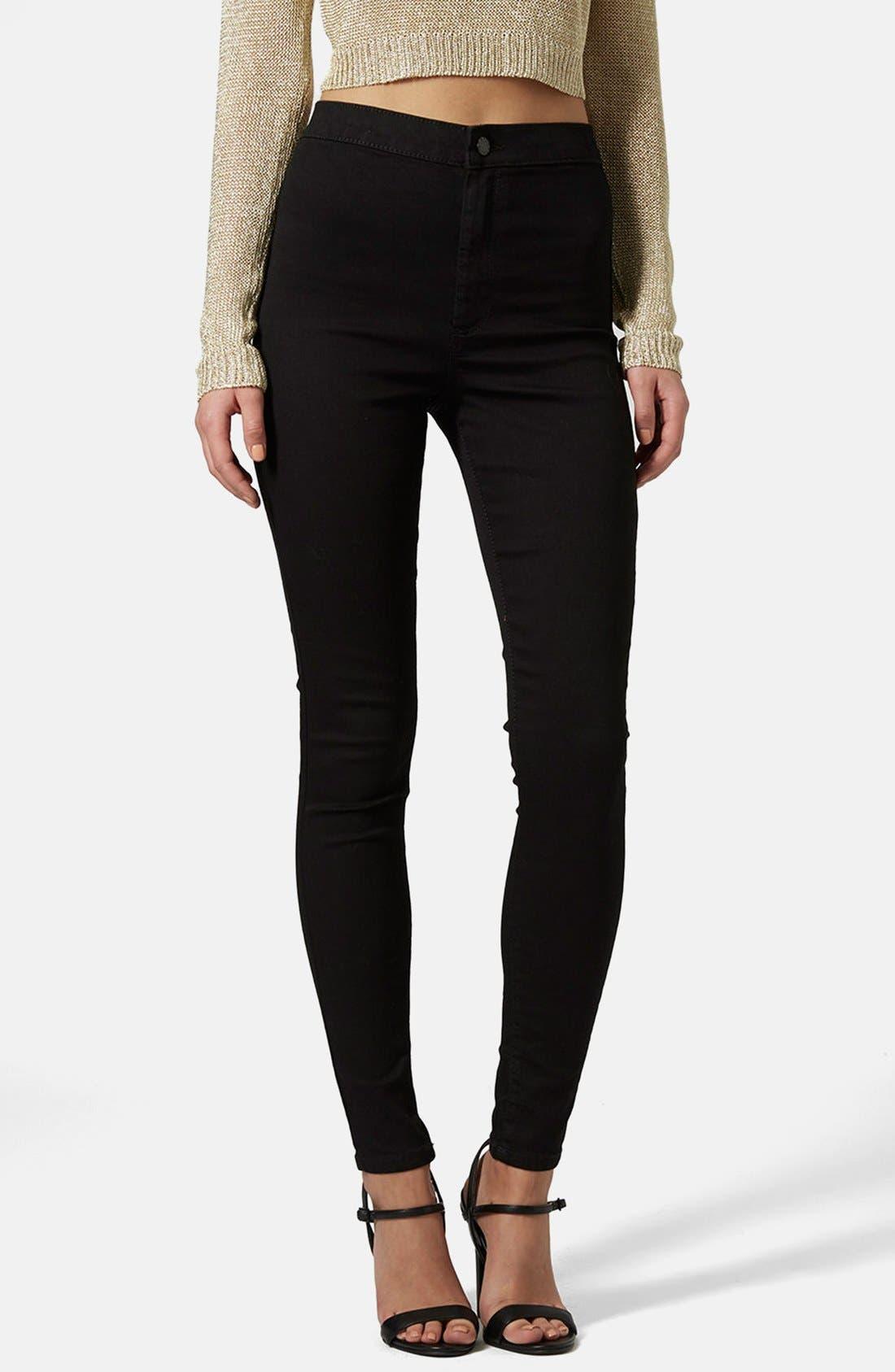 TOPSHOP, Joni High Waist Ankle Skinny Jeans, Main thumbnail 1, color, 001