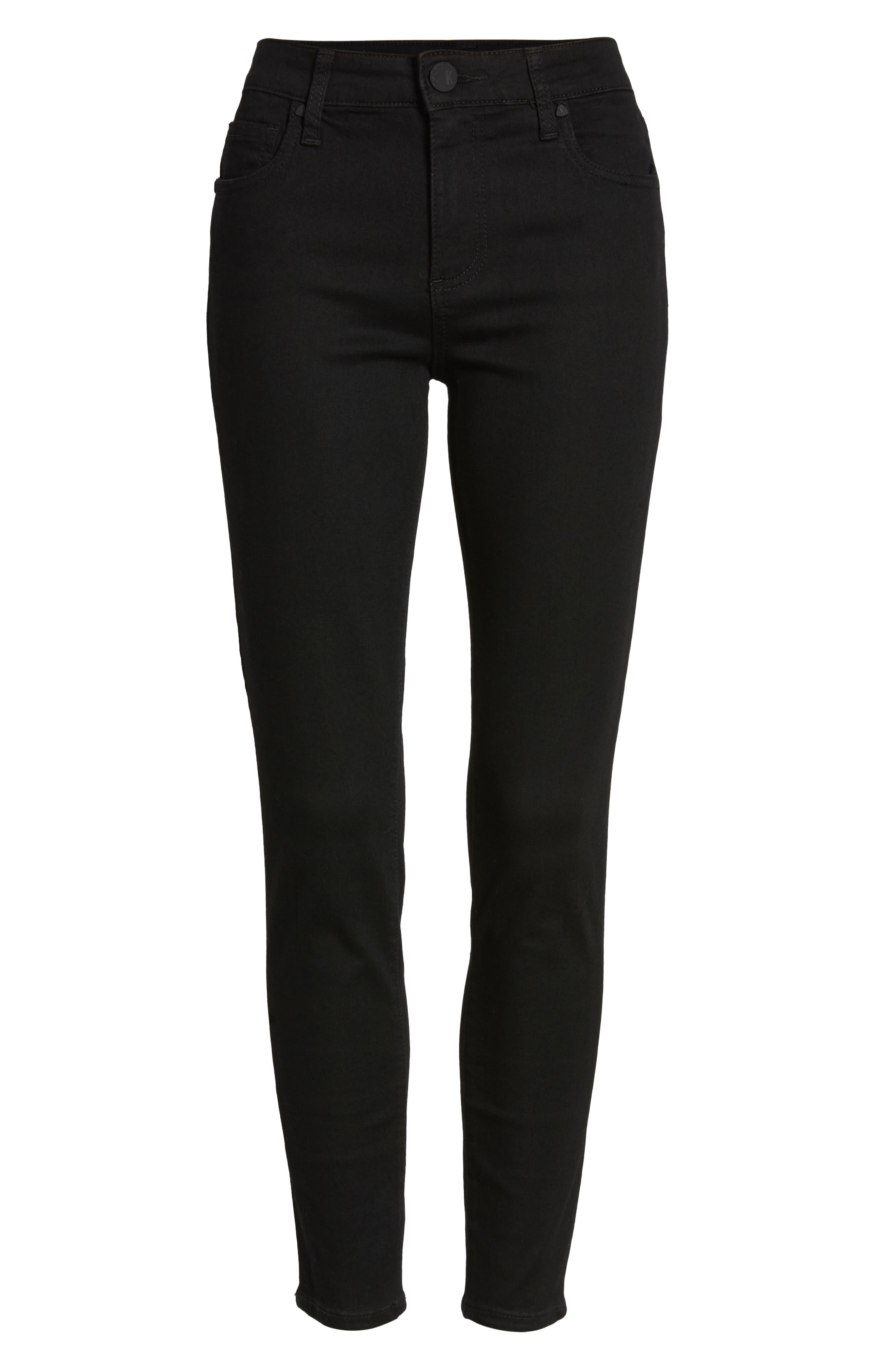 KUT FROM THE KLOTH, Donna High Waist Ankle Skinny Jeans, Alternate thumbnail 5, color, 002