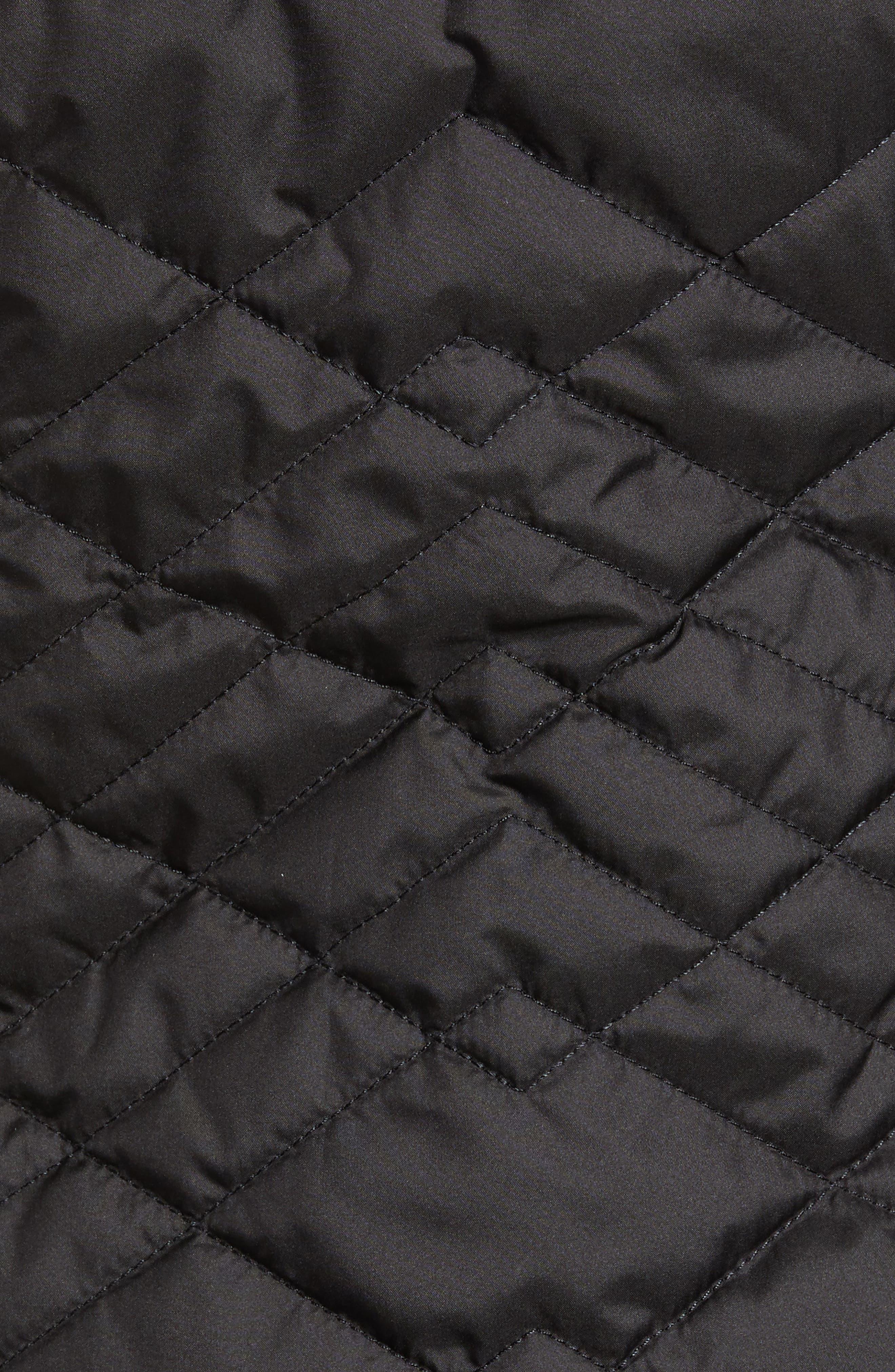 THE NORTH FACE, Mossbud Reversible Heatseeker<sup>™</sup> Wind Resistant Jacket, Alternate thumbnail 7, color, TNF BLACK