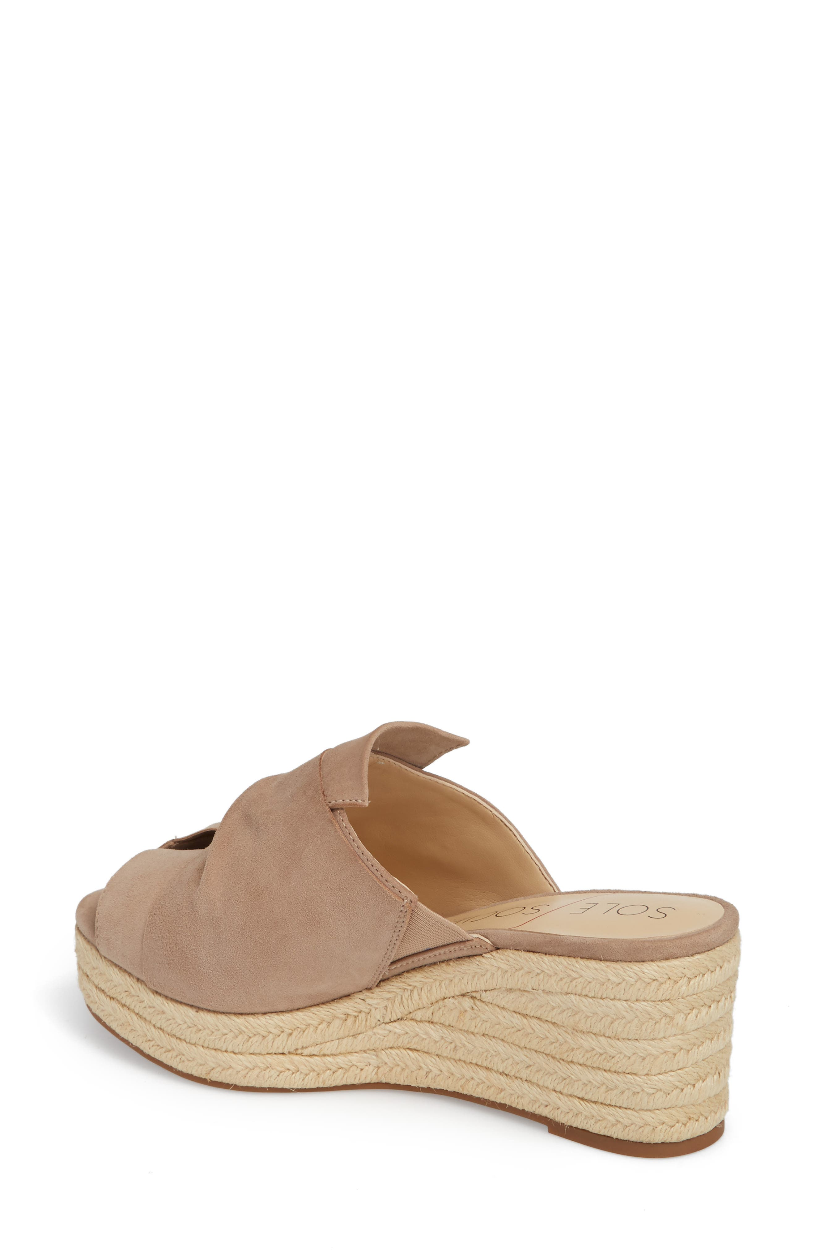 SOLE SOCIETY, Carima Espadrille Wedge, Alternate thumbnail 2, color, TAUPE FABRIC