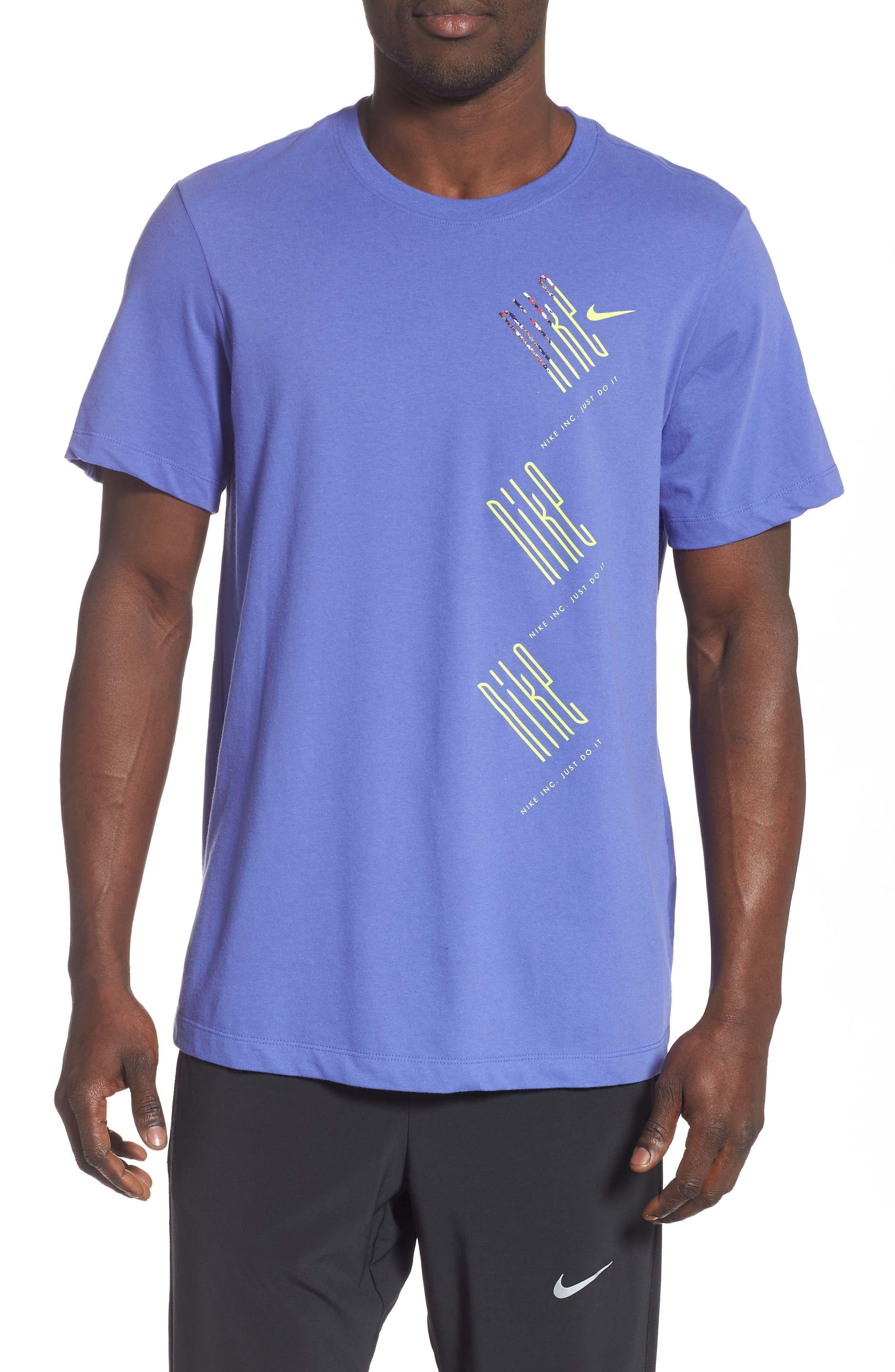 Nike Dry Wild Run T-Shirt Purple