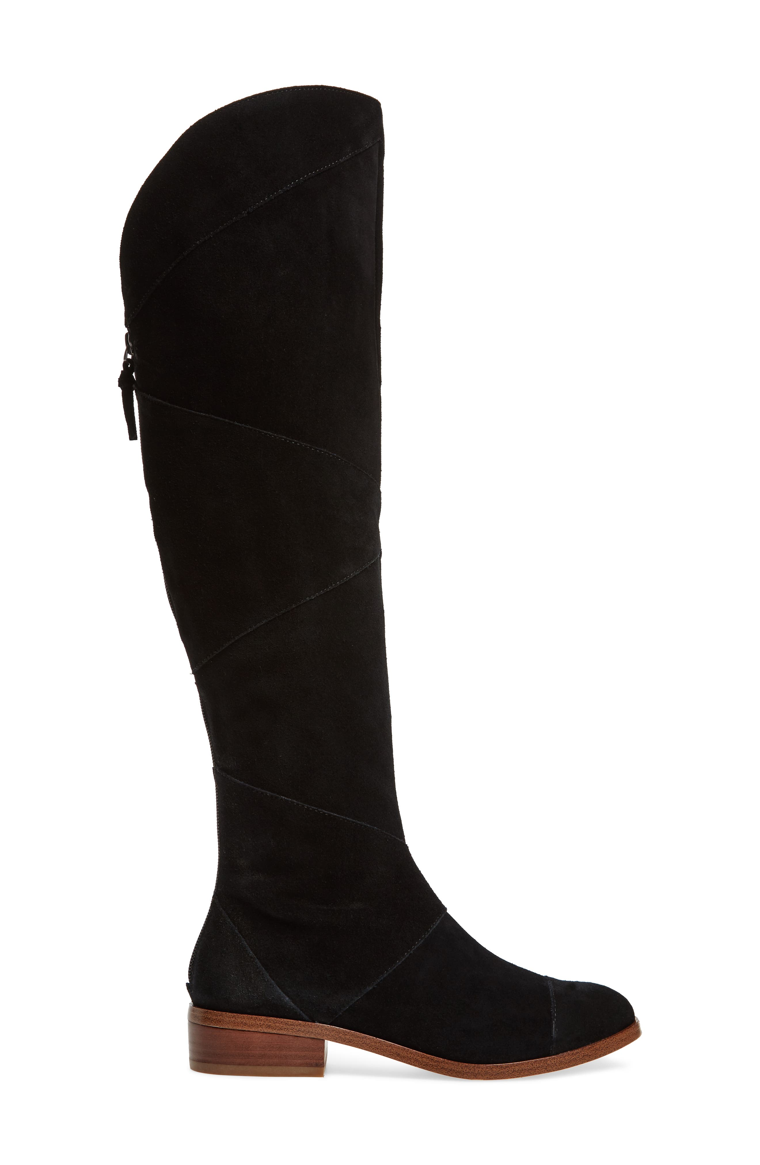 SOLE SOCIETY, Tiff Over the Knee Boot, Alternate thumbnail 3, color, BLACK