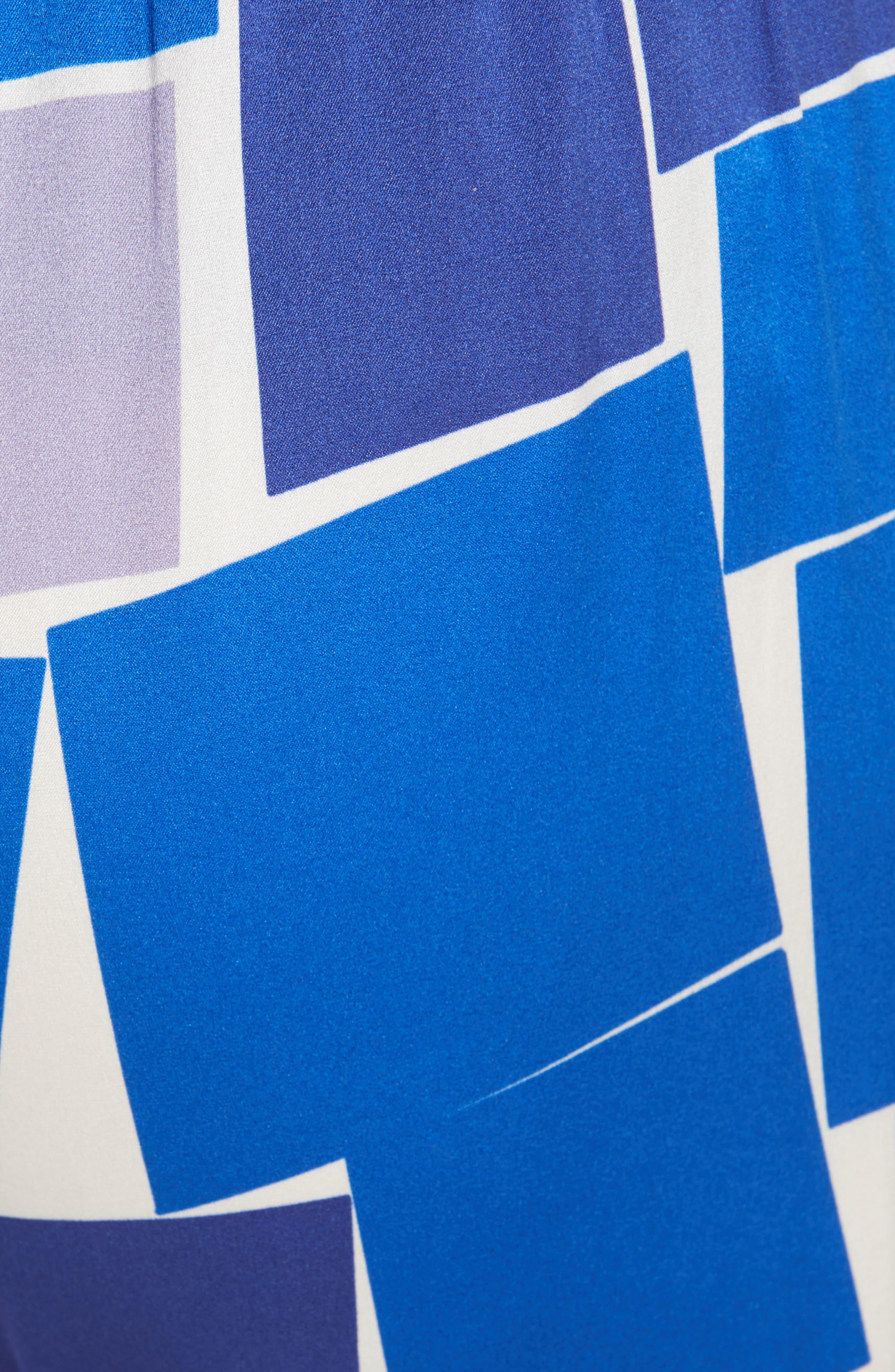 ZERO + MARIA CORNEJO, Gabi Print Stretch Silk Trousers, Alternate thumbnail 5, color, DUSK MULTI