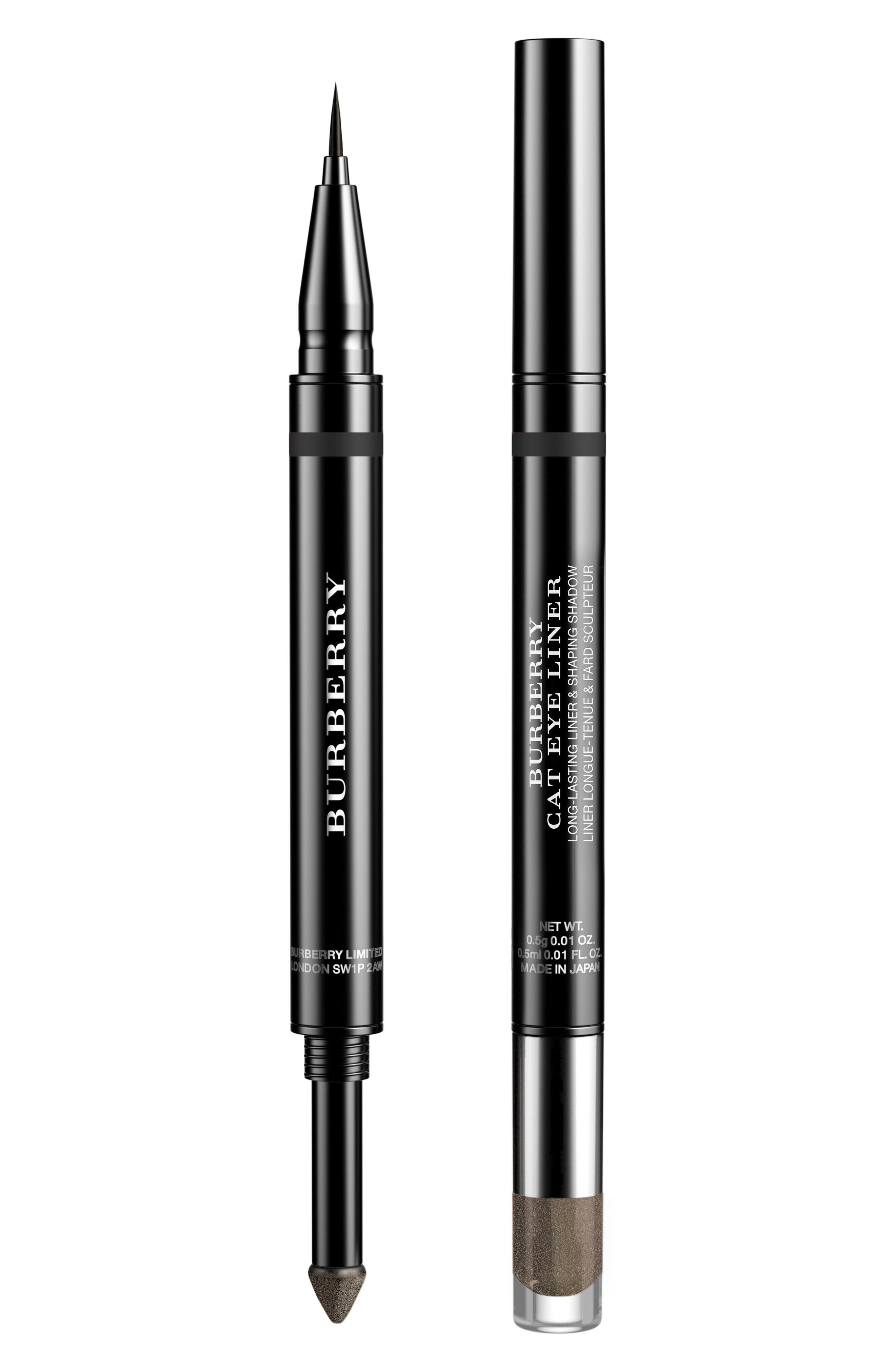 BURBERRY BEAUTY Cat Liner Long-Lasting Liner & Shaping Shadow, Main, color, 001