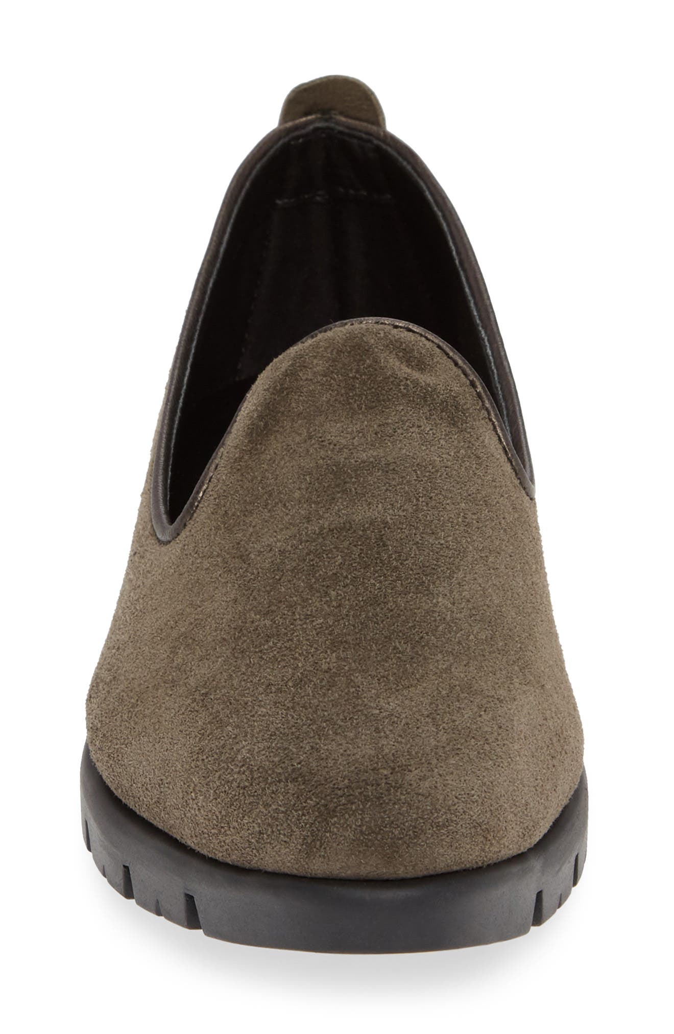 THE FLEXX, Smokin' Hot Plush Loafer, Alternate thumbnail 4, color, BROWN SUEDE