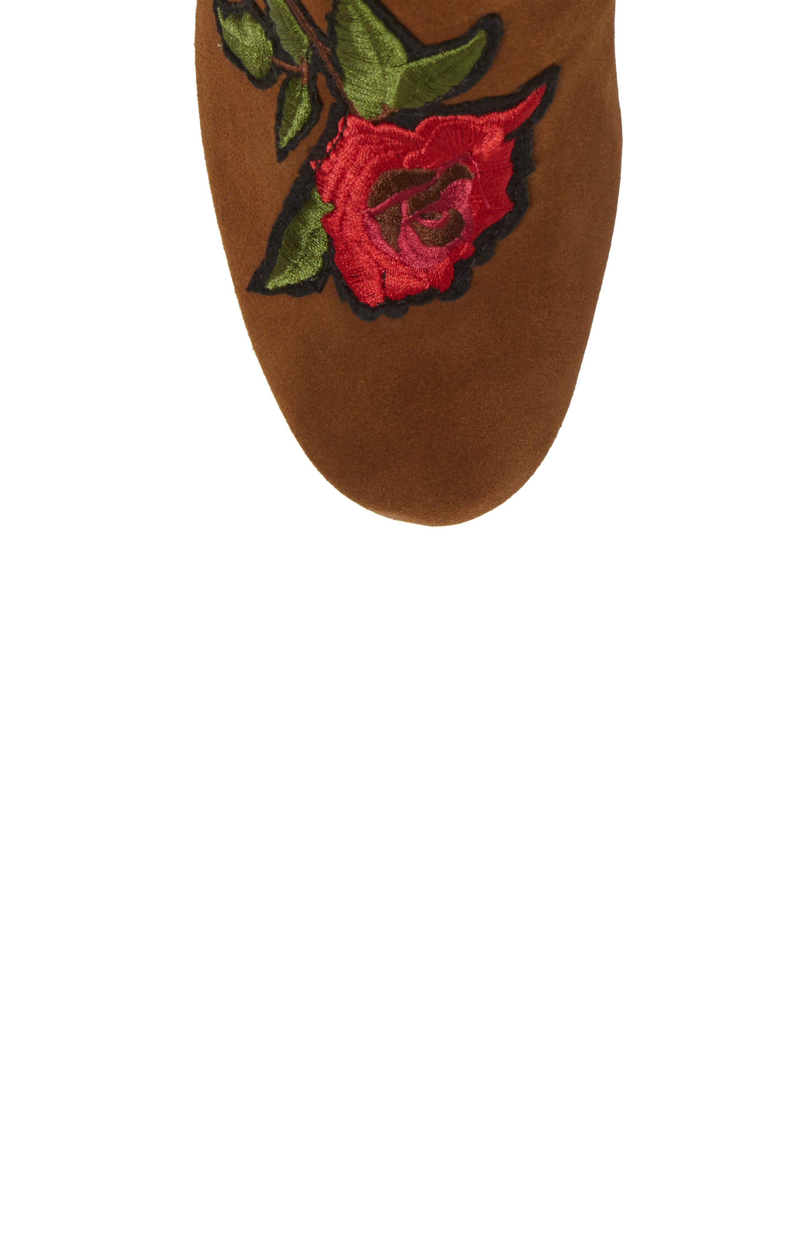 GENTLE SOULS BY KENNETH COLE, Blaise Patches Bootie, Alternate thumbnail 5, color, WALNUT SUEDE