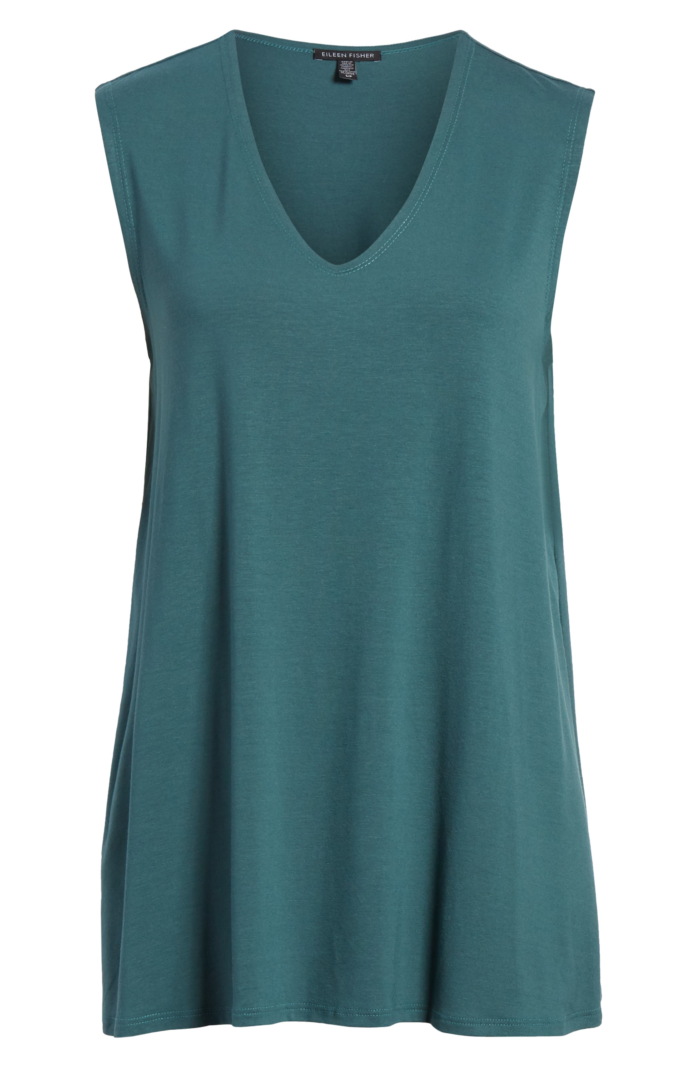 EILEEN FISHER, Jersey Tank, Alternate thumbnail 6, color, 441