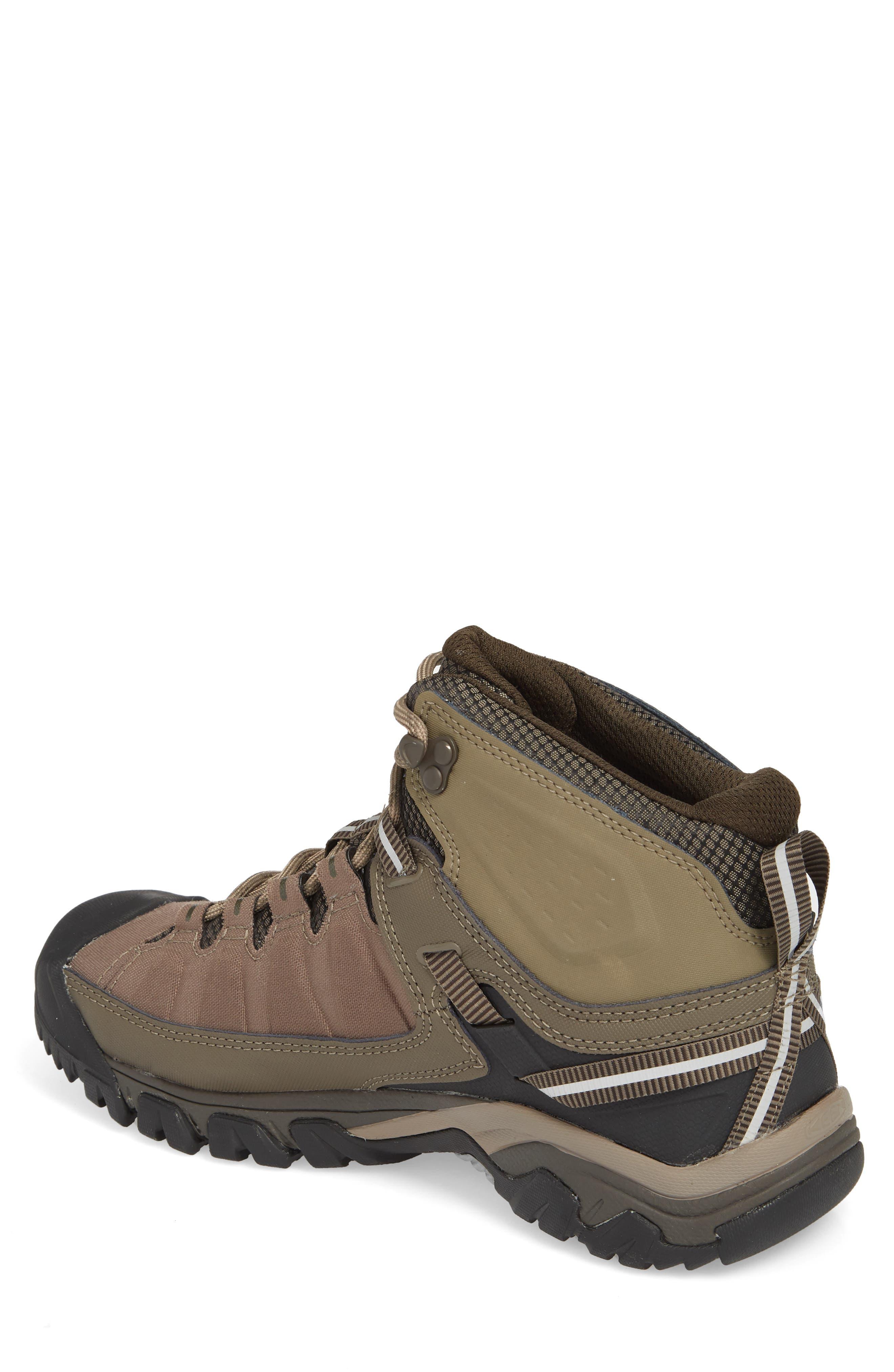 KEEN, Targhee EXP Mid Waterproof Hiking Boot, Alternate thumbnail 2, color, BUNGEE CORD/BRINDLE