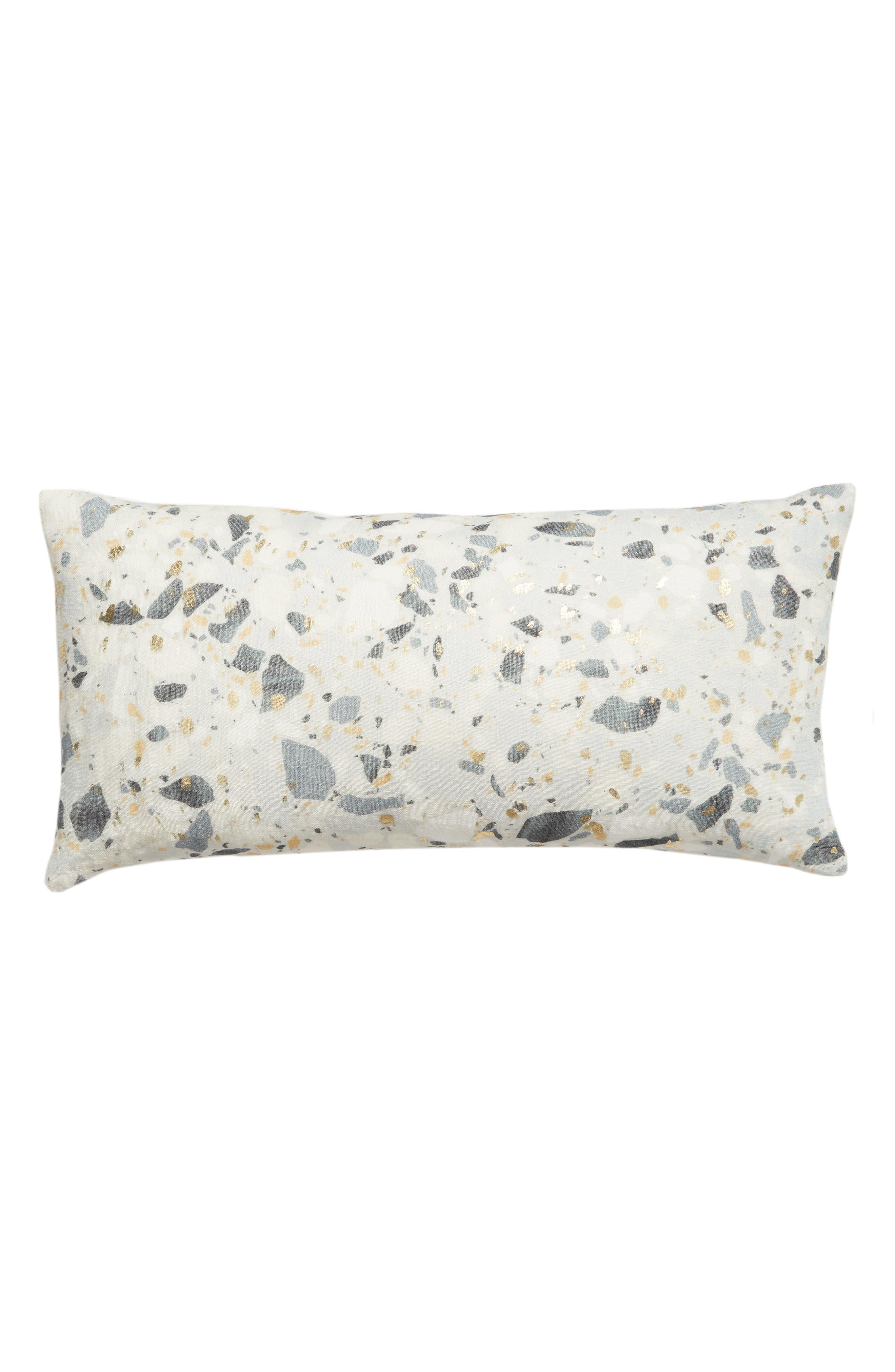 TREASURE & BOND Terazzo Metallic Accent Pillow, Main, color, GREY SILK MULTI