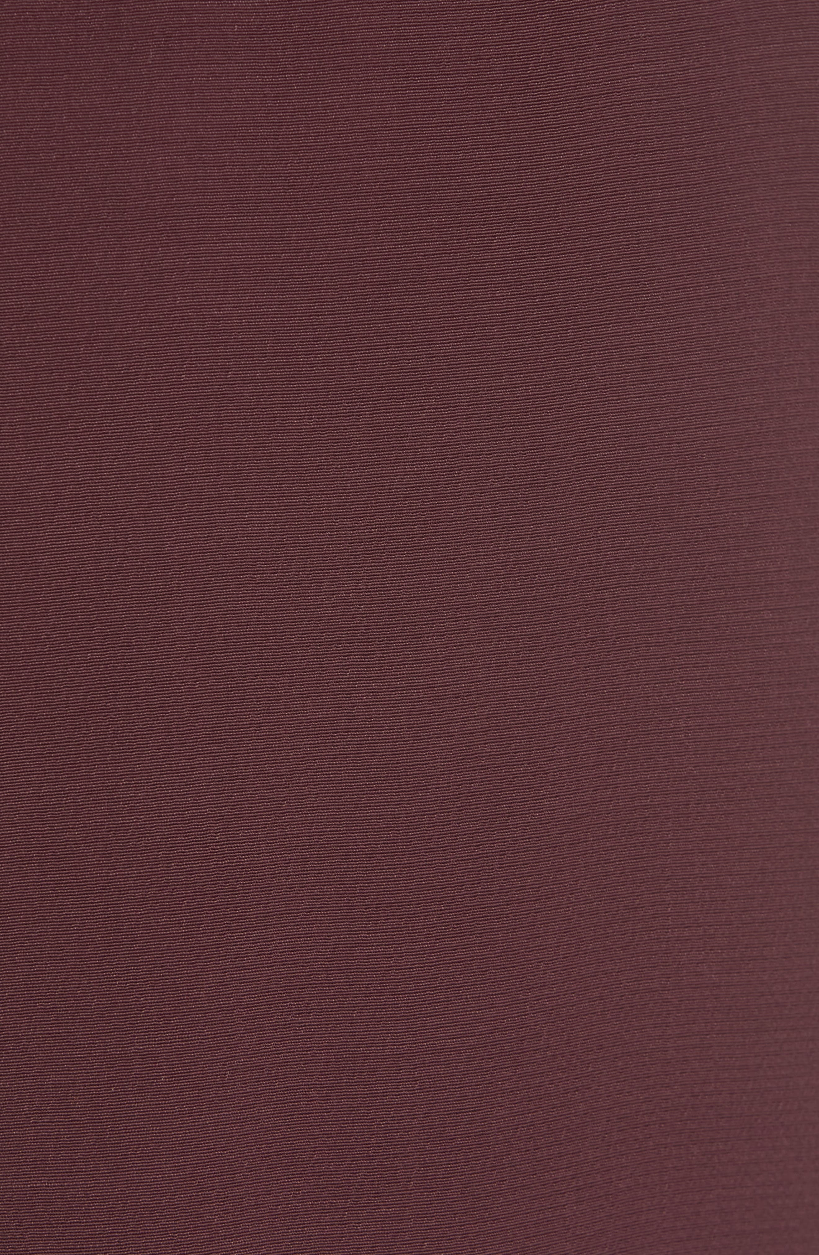 EILEEN FISHER, Crepe Pants, Alternate thumbnail 6, color, CASSIS