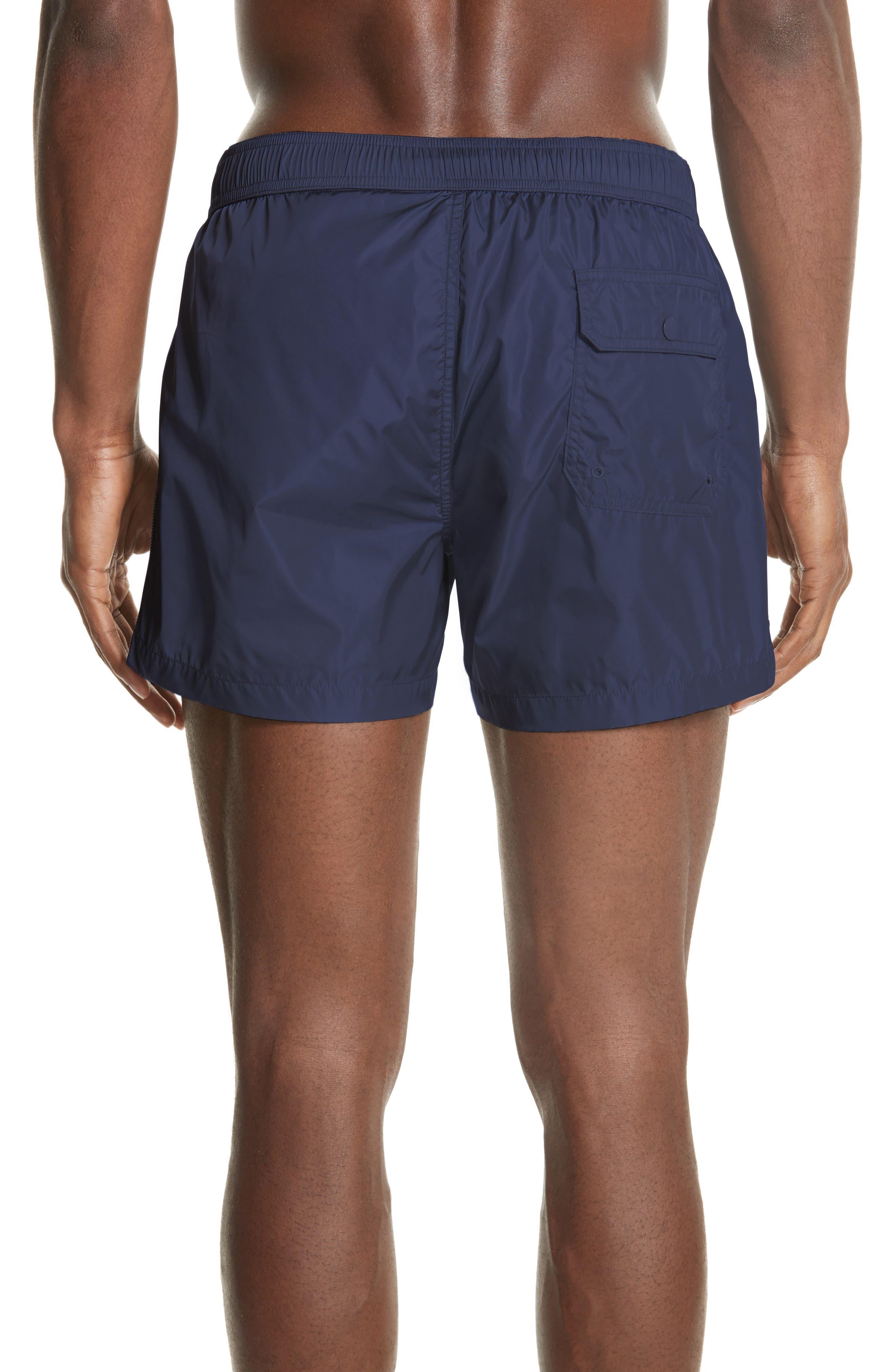 MONCLER, Boxer Mare Swim Shorts, Alternate thumbnail 2, color, BLUE