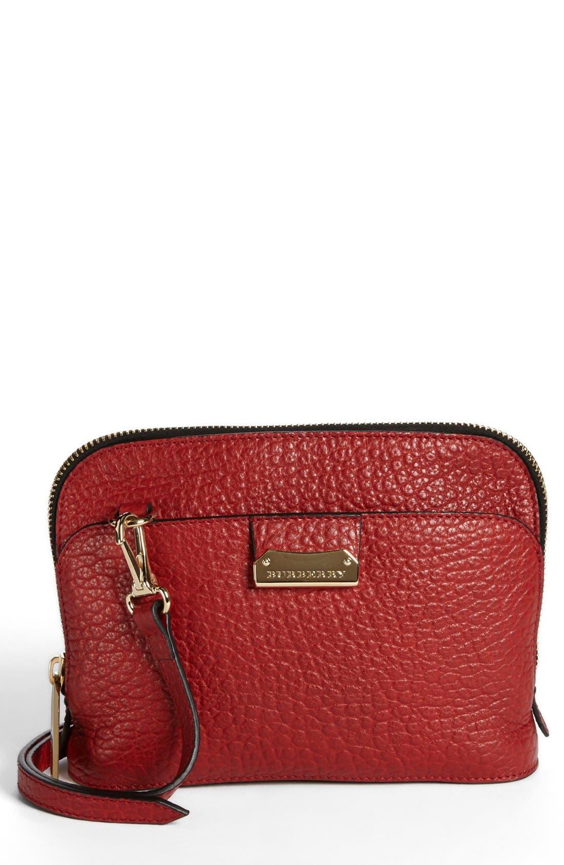 BURBERRY 'Small Harrogate' Leather Crossbody Bag, Main, color, 608