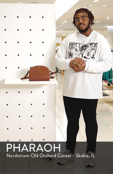 'Sac Demi Lune' Leather Crossbody Bag, sales video thumbnail