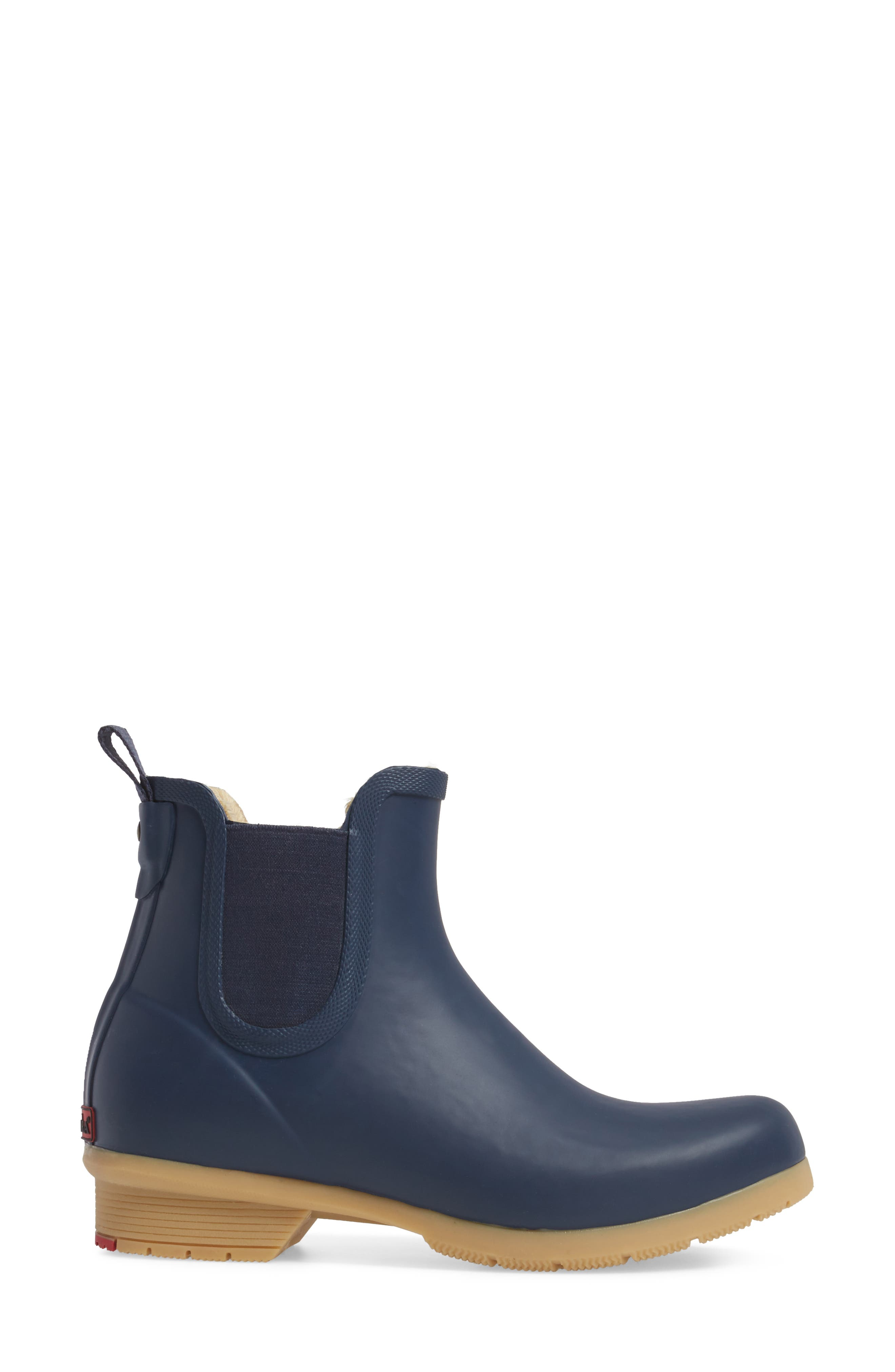 CHOOKA, Bainbridge Chelsea Rain Boot, Alternate thumbnail 3, color, NAVY