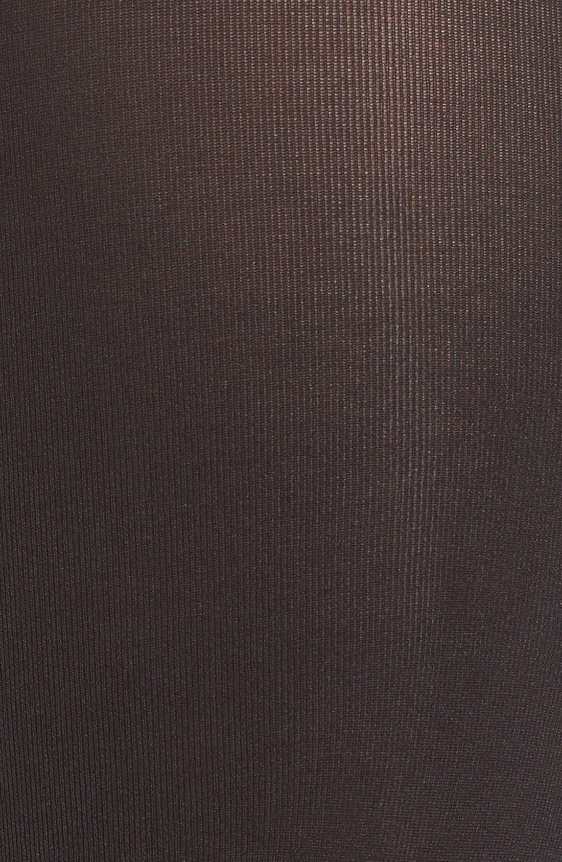 DKNY, 'Super Opaque' Control Top Tights, Alternate thumbnail 2, color, 002