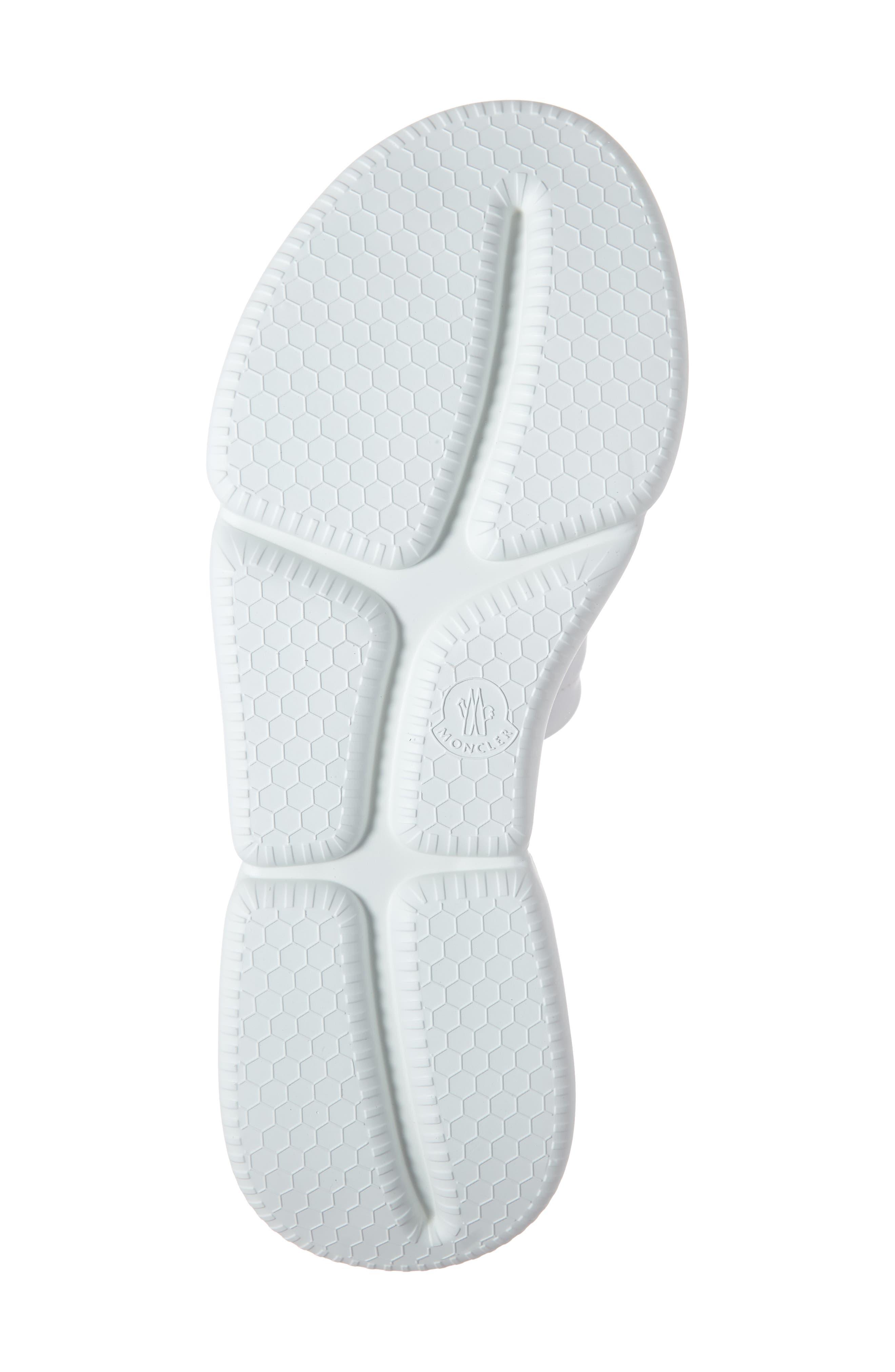 MONCLER, Zaira Platform Slide Sandal, Alternate thumbnail 6, color, WHITE